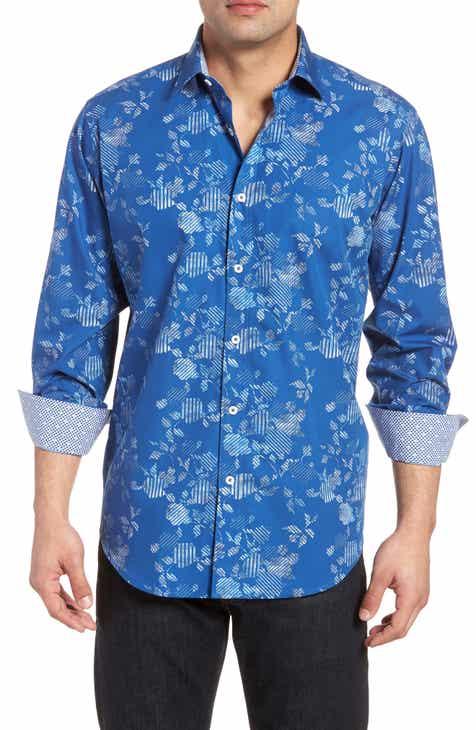 Bugatchi Classic Fit Woven Sport Shirt