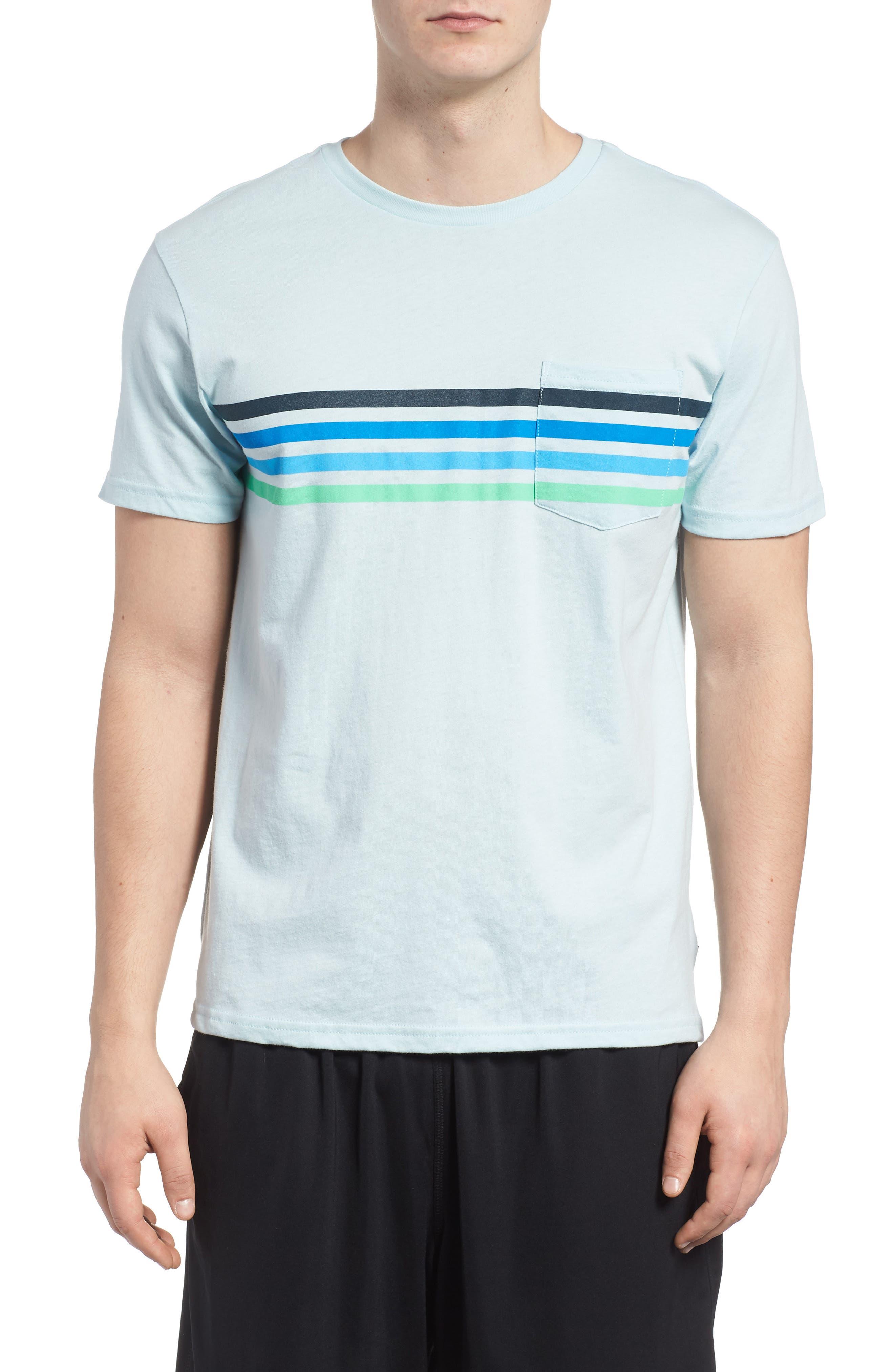Team Stripe Pocket T-Shirt,                         Main,                         color, Coastal Blue