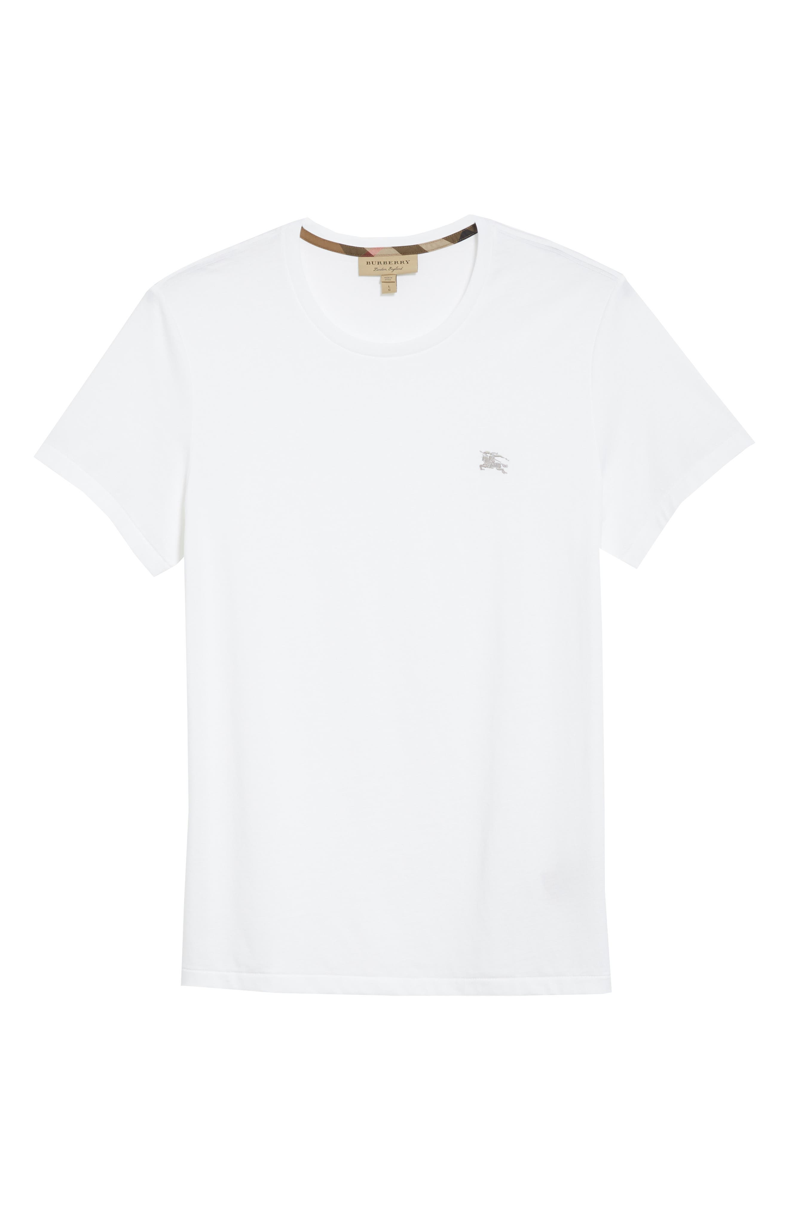 Logo Embroidered Crewneck T-shirt.,                             Alternate thumbnail 6, color,                             White