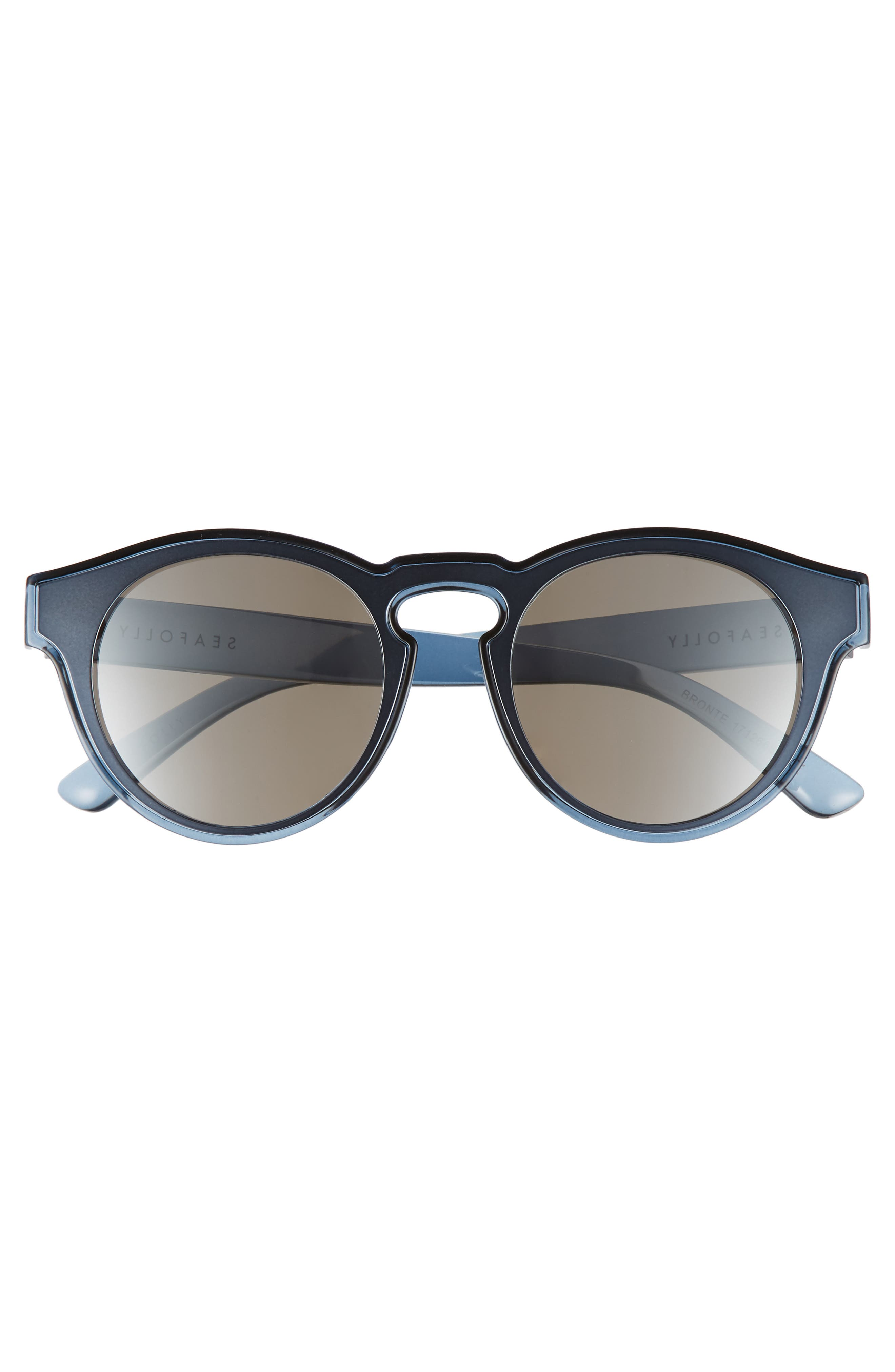 Bronte 50mm Sunglasses,                             Alternate thumbnail 3, color,                             Blue Stone