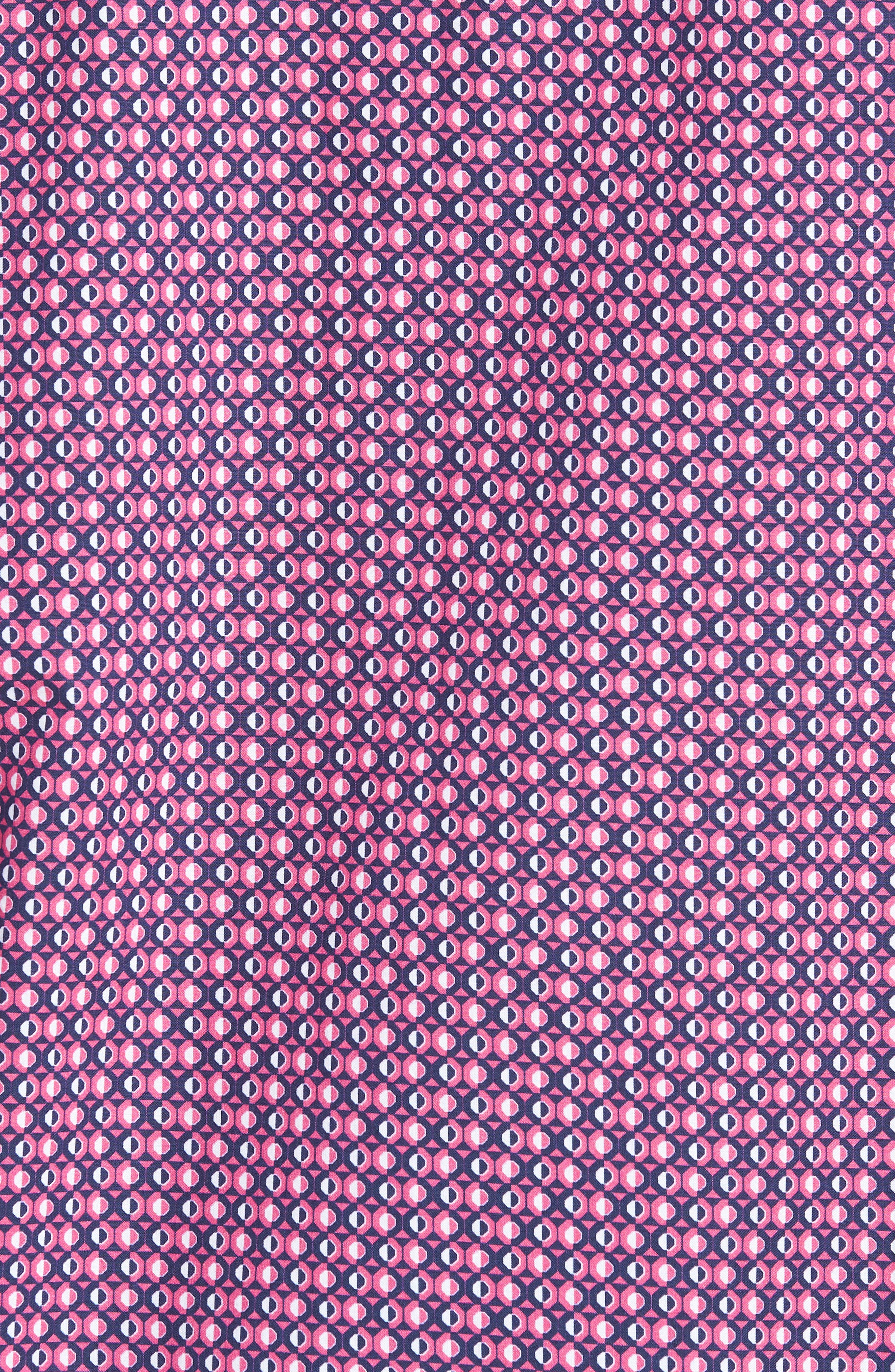 Classic Fit Woven Sport Shirt,                             Alternate thumbnail 5, color,                             Magenta