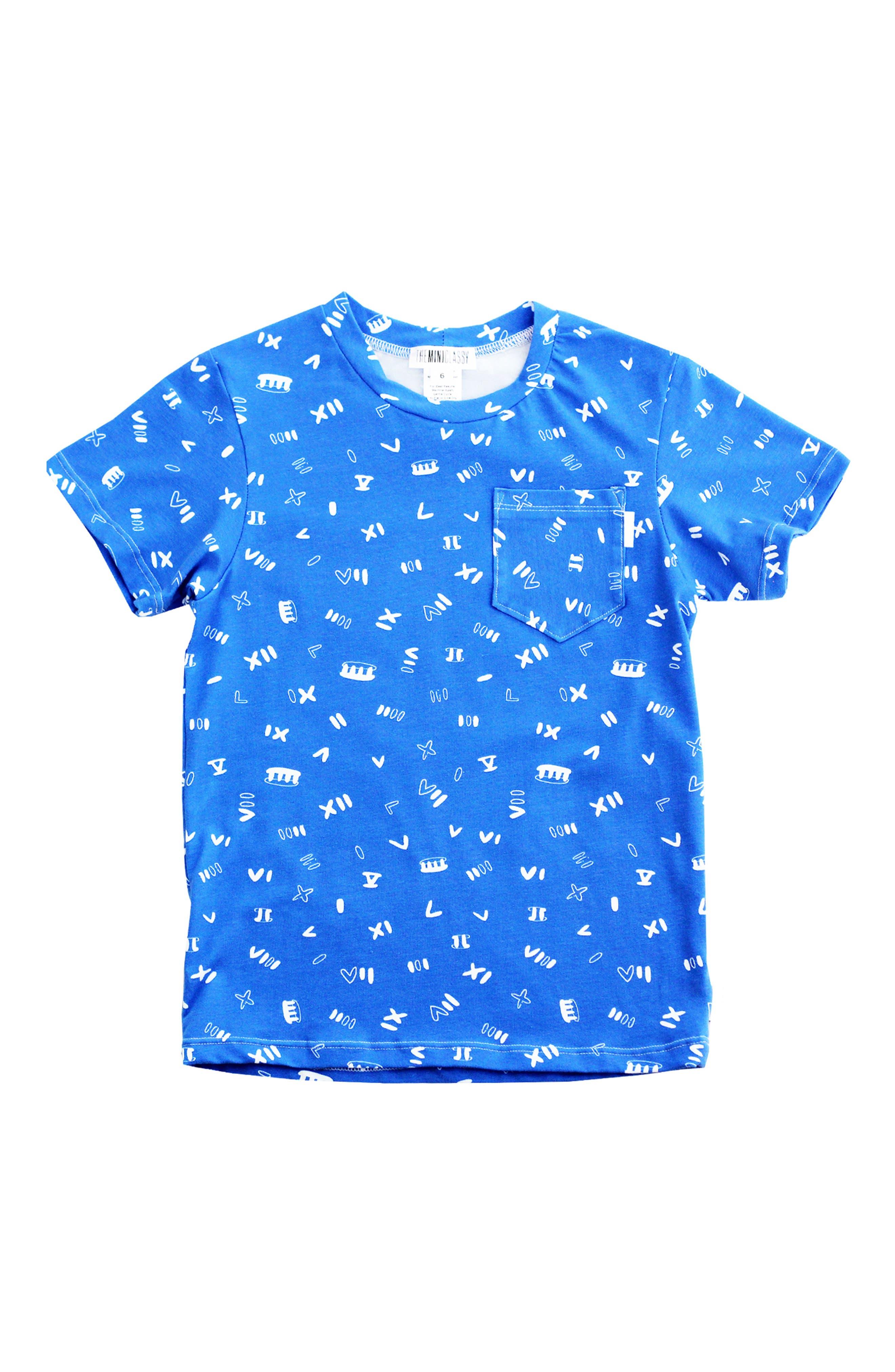 Roman Noodle T-Shirt,                         Main,                         color, Blue/ White