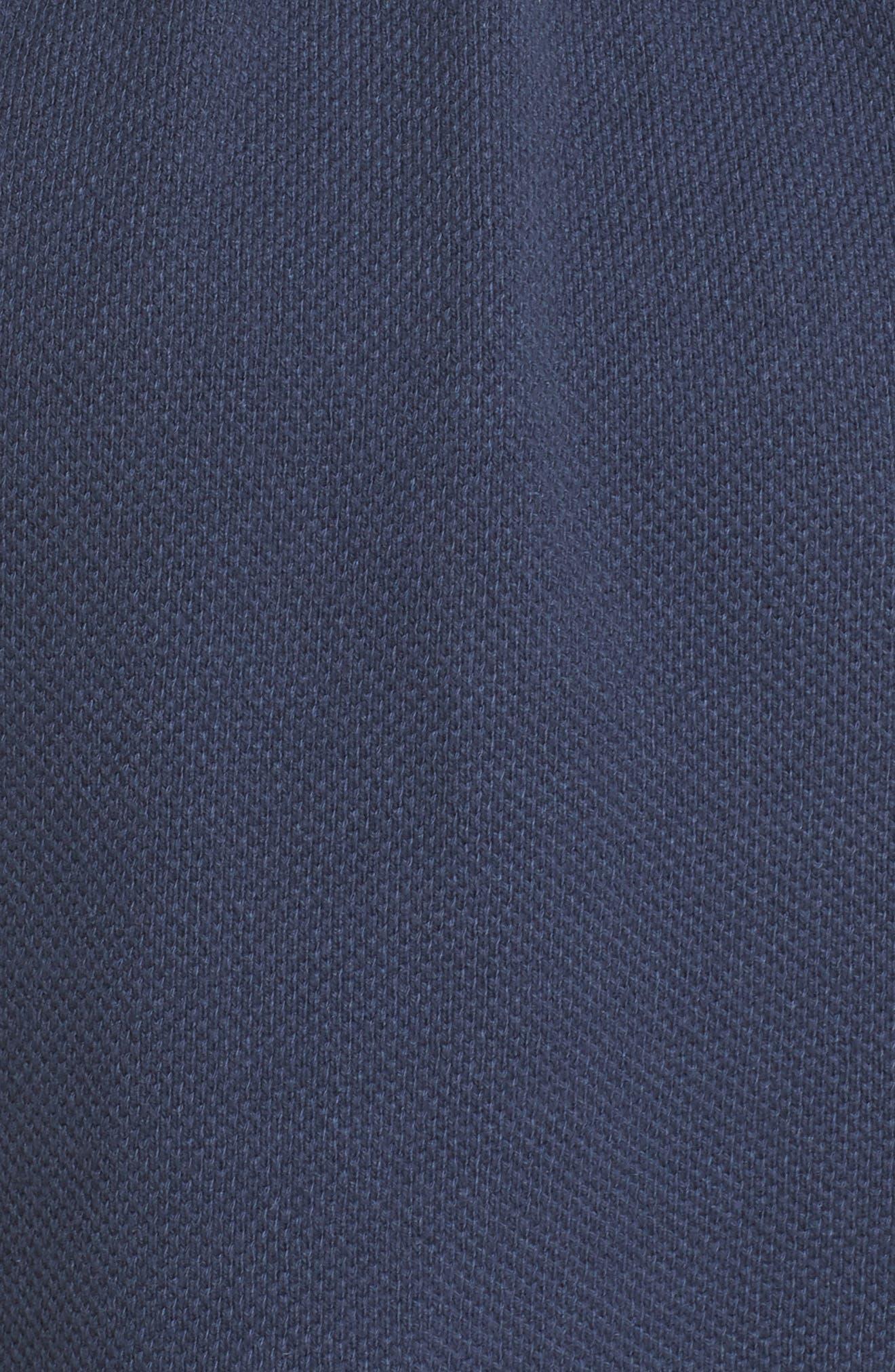 Tie Waist Knit Hooded Jacket,                             Alternate thumbnail 6, color,                             Navy Indigo