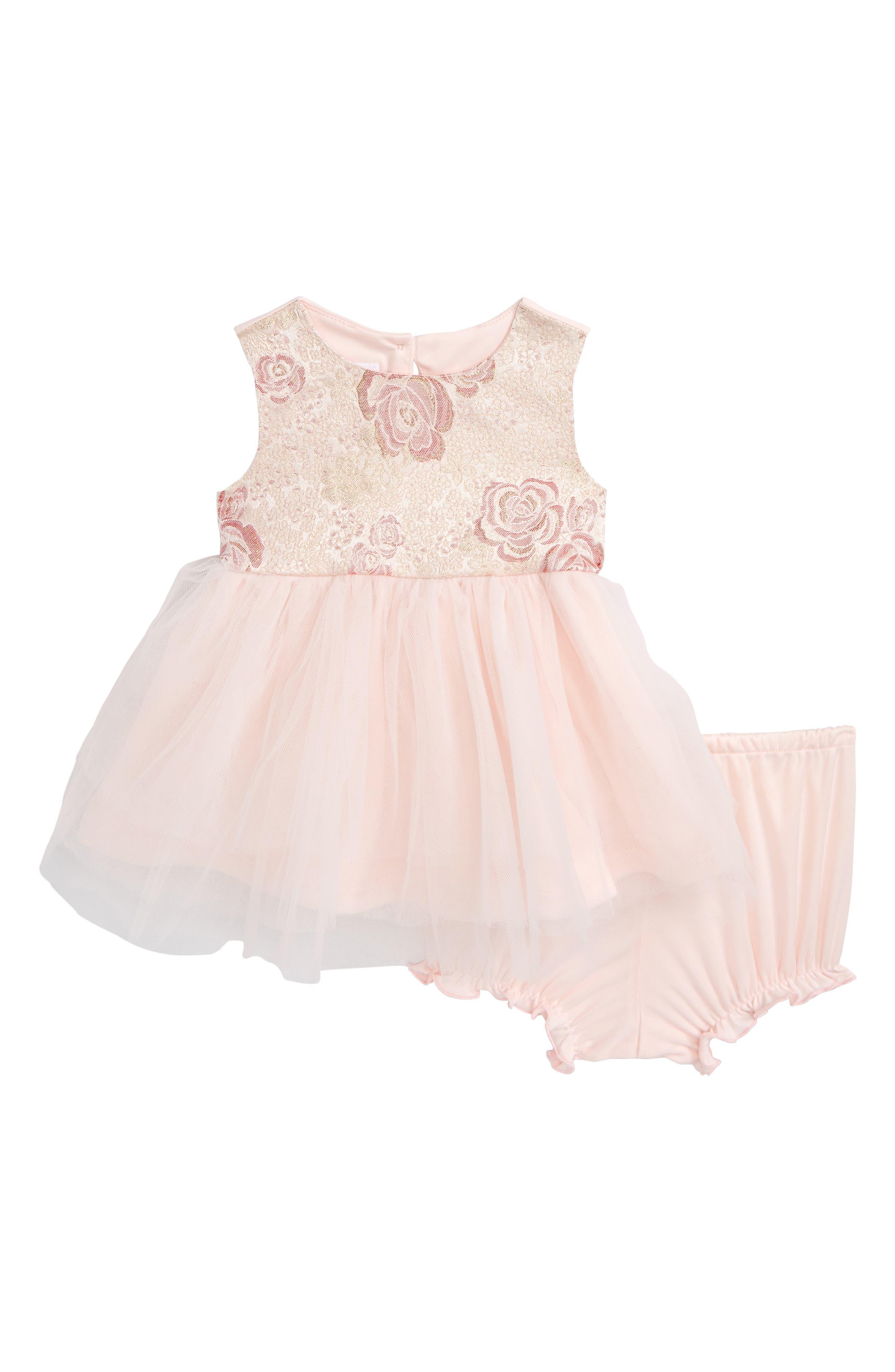 Jacquard Ballerina Party Dress,                             Main thumbnail 1, color,                             Light Pink