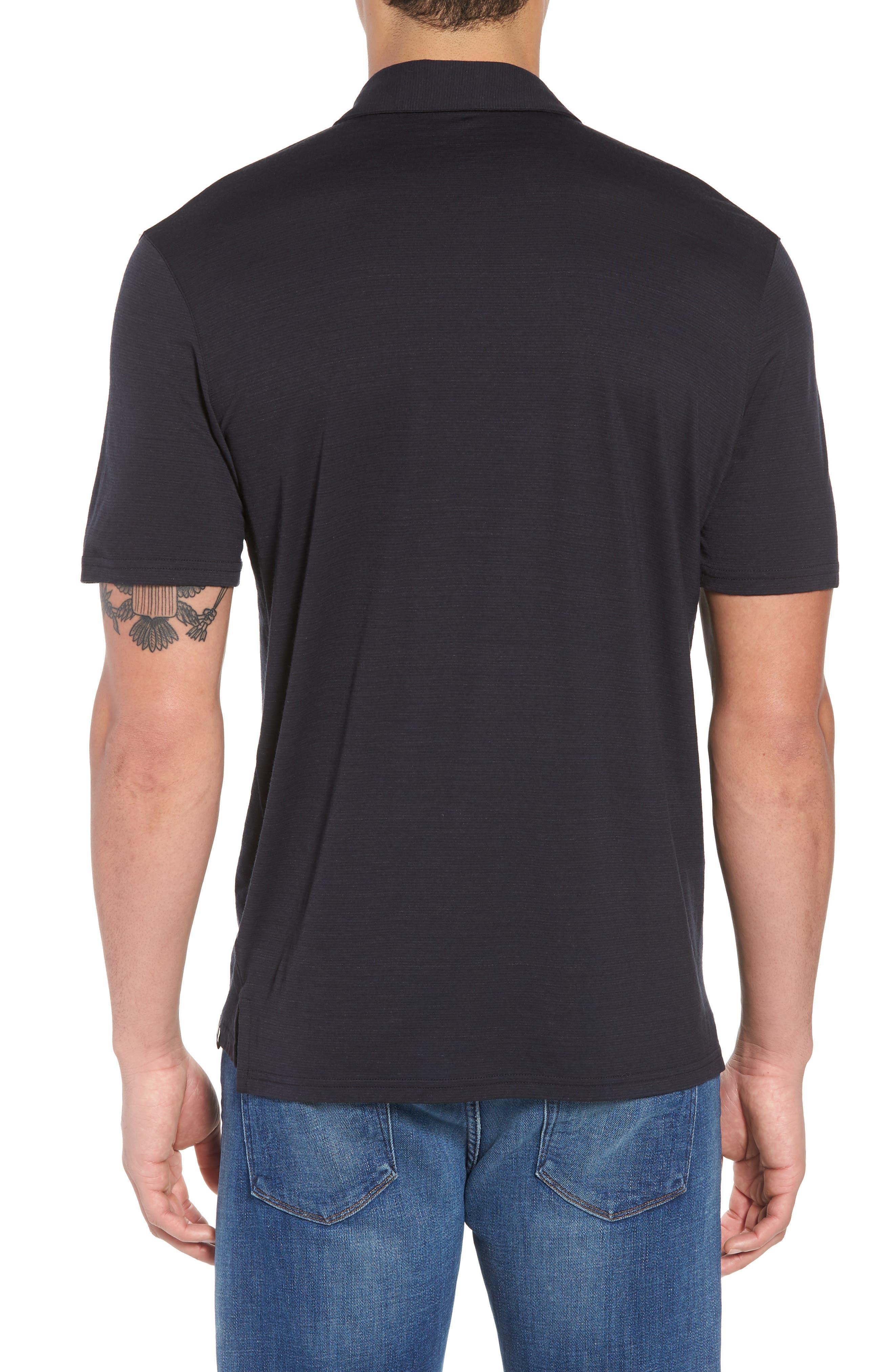 Merino 150 Wool Blend Polo Shirt,                             Alternate thumbnail 2, color,                             Charcoal