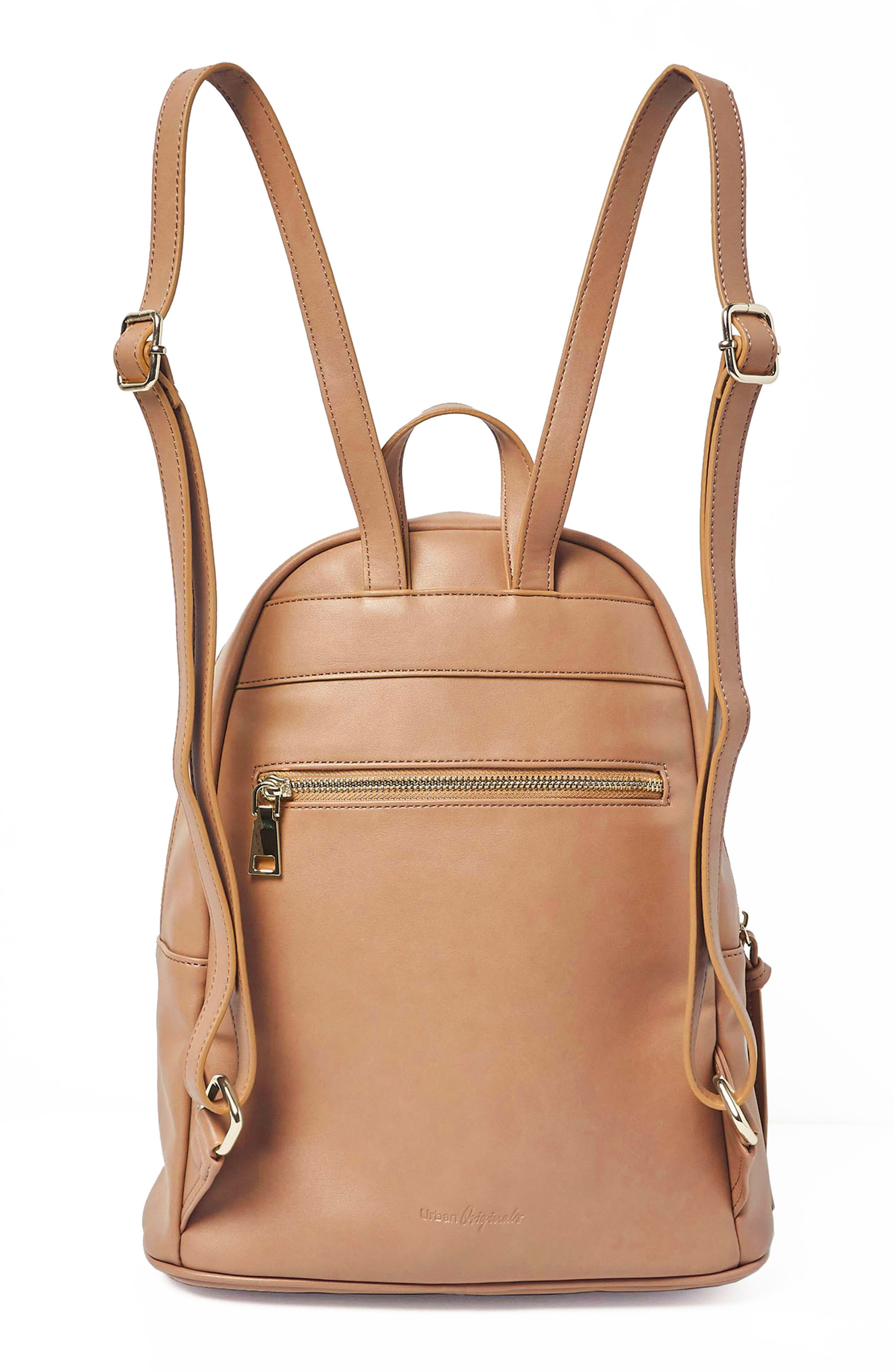 Sublime Vegan Leather Backpack,                             Alternate thumbnail 2, color,                             Nude