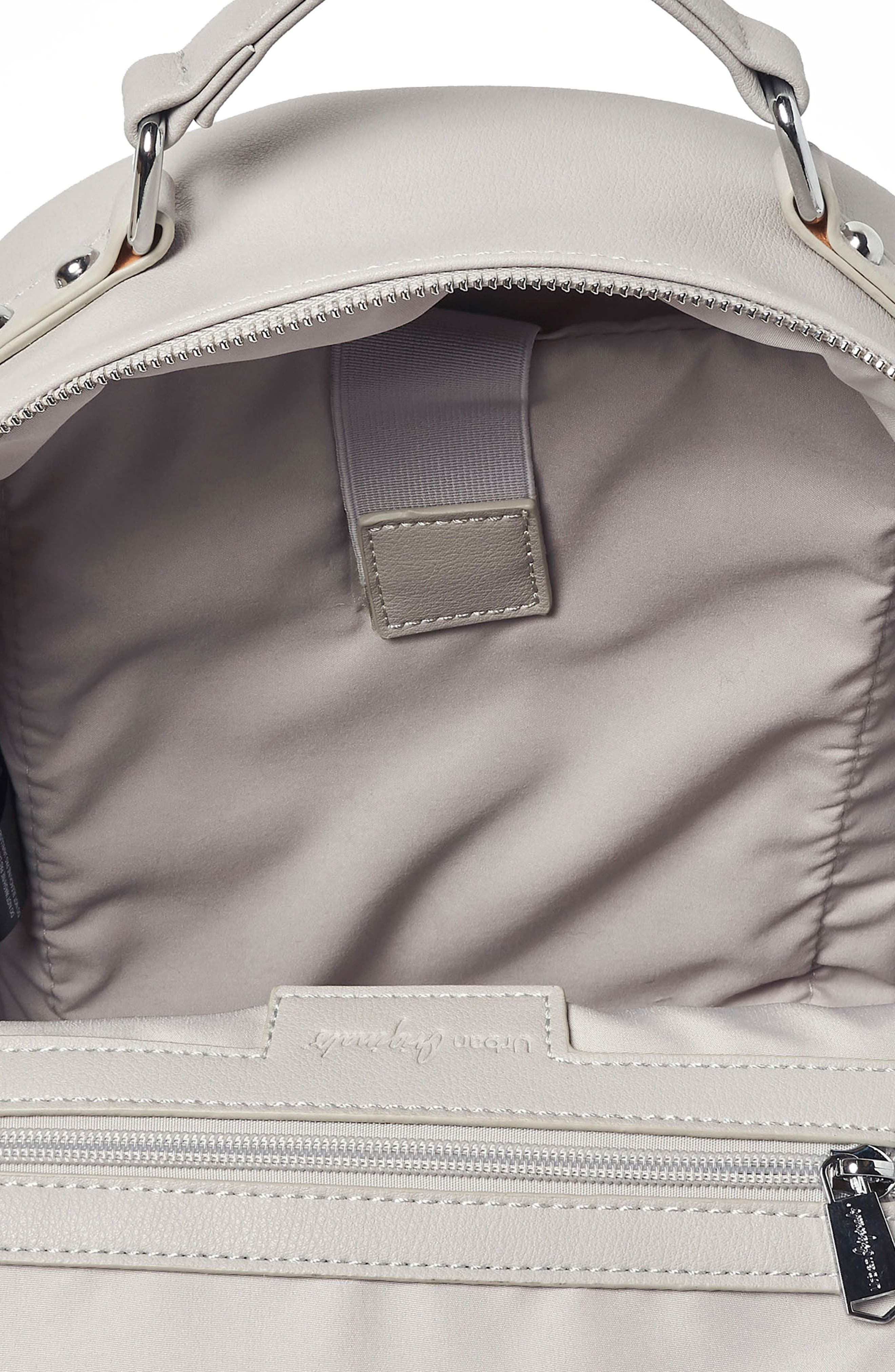 On My Own Vegan Leather Backpack,                             Alternate thumbnail 3, color,                             Grey