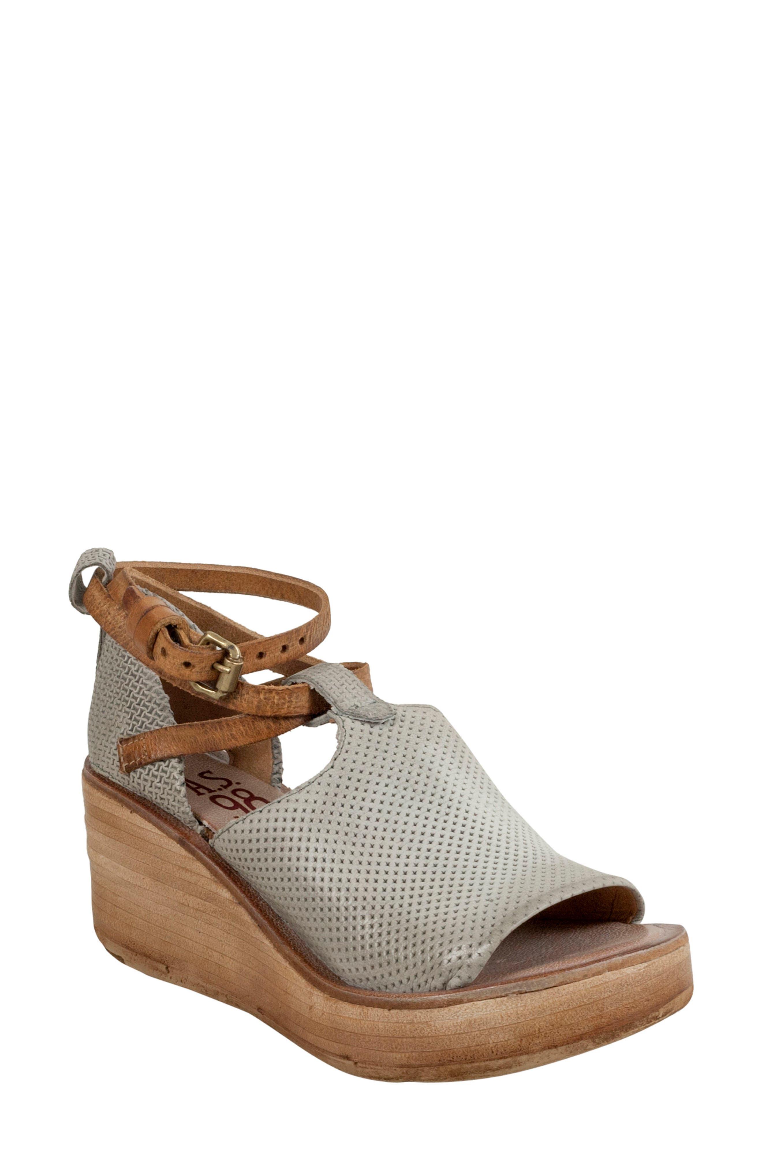 A.S.98 Nino Wedge Sandal, Grey