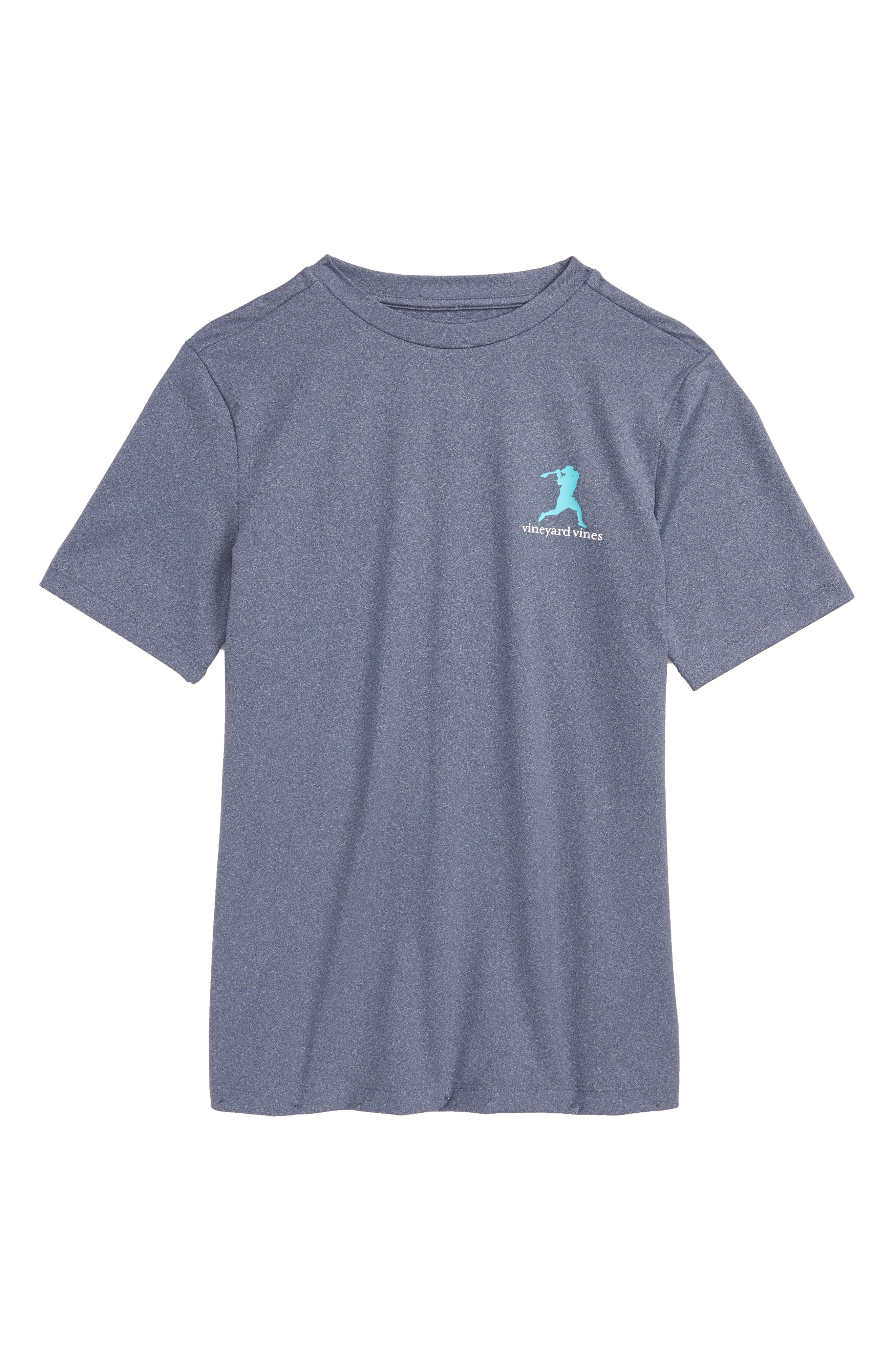 Wind Up Shot Graphic Performance T-Shirt,                         Main,                         color, Deep Bay