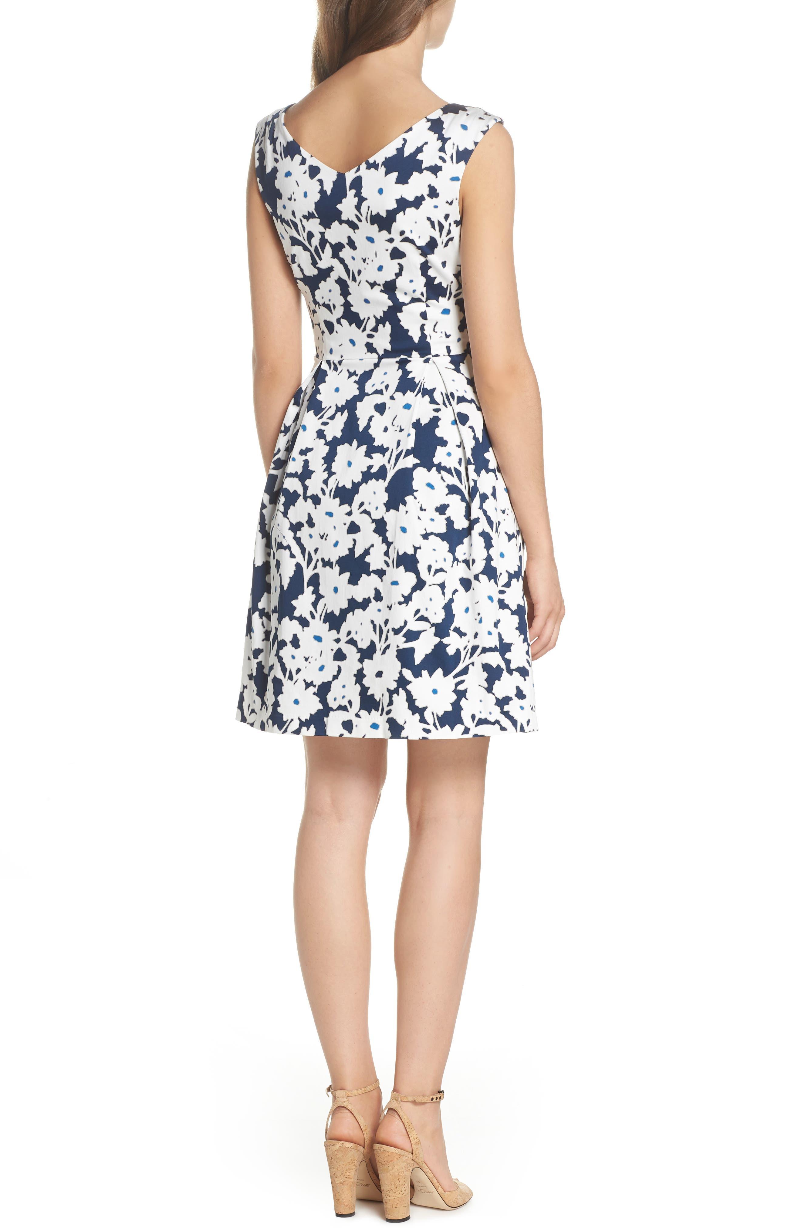 Alternate Image 2  - Adrianna Papell Daisy Field Fit & Flare Dress