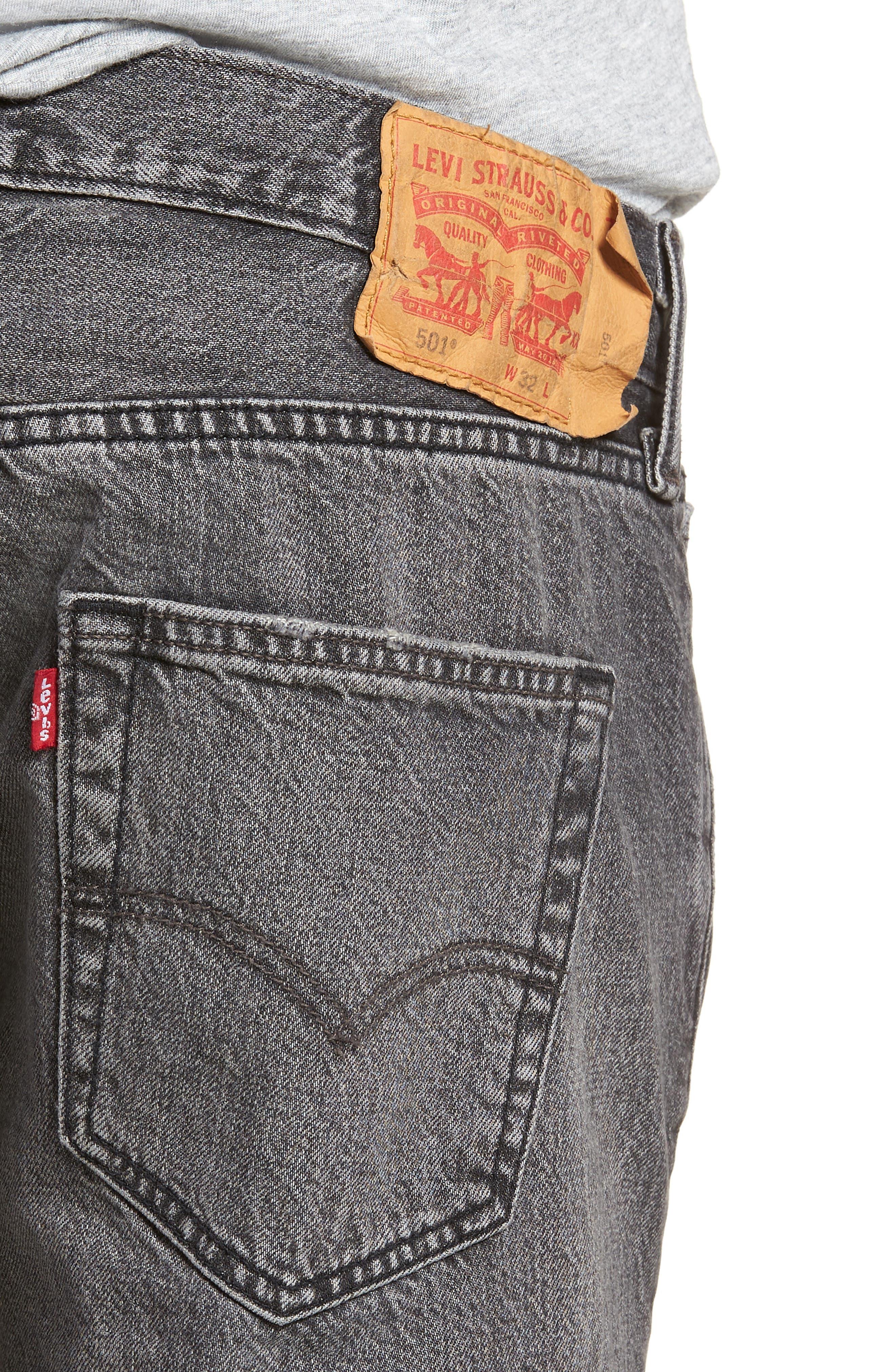 501<sup>®</sup> Cutoff Denim Shorts,                             Alternate thumbnail 4, color,                             Black Hawaii