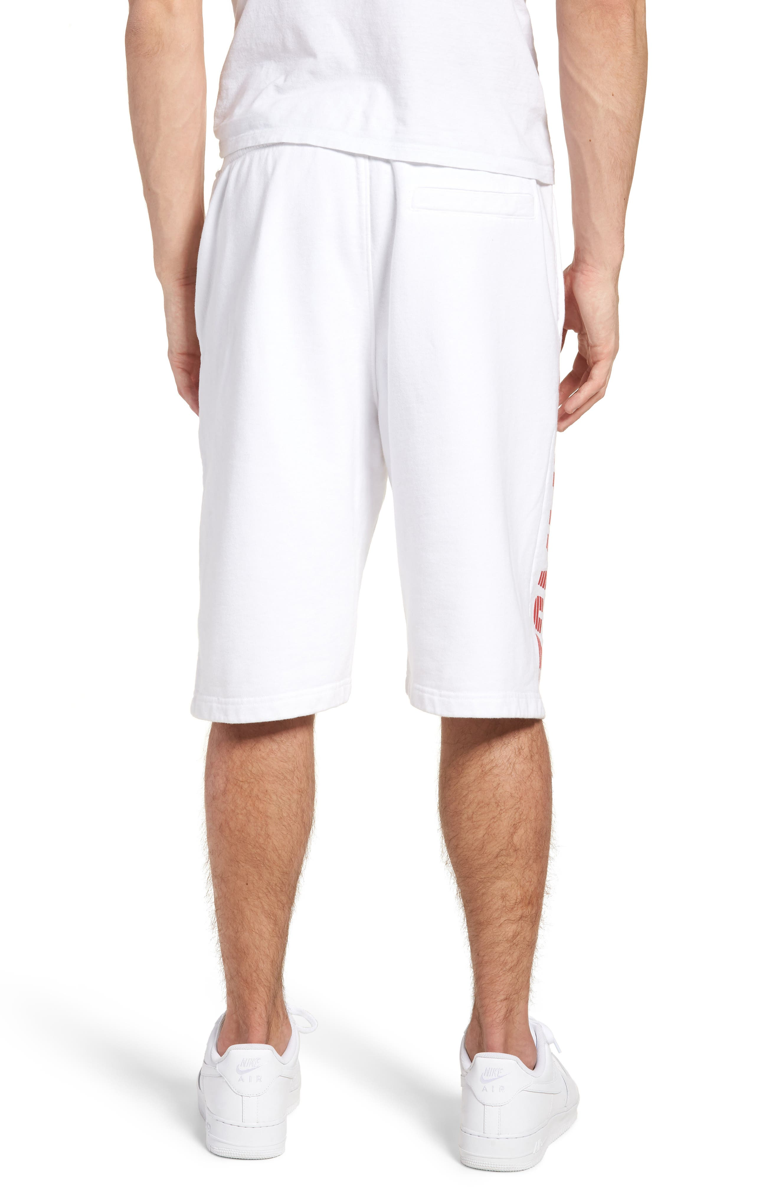 Vintage Graphic Basketball Shorts,                             Alternate thumbnail 2, color,                             Classic White