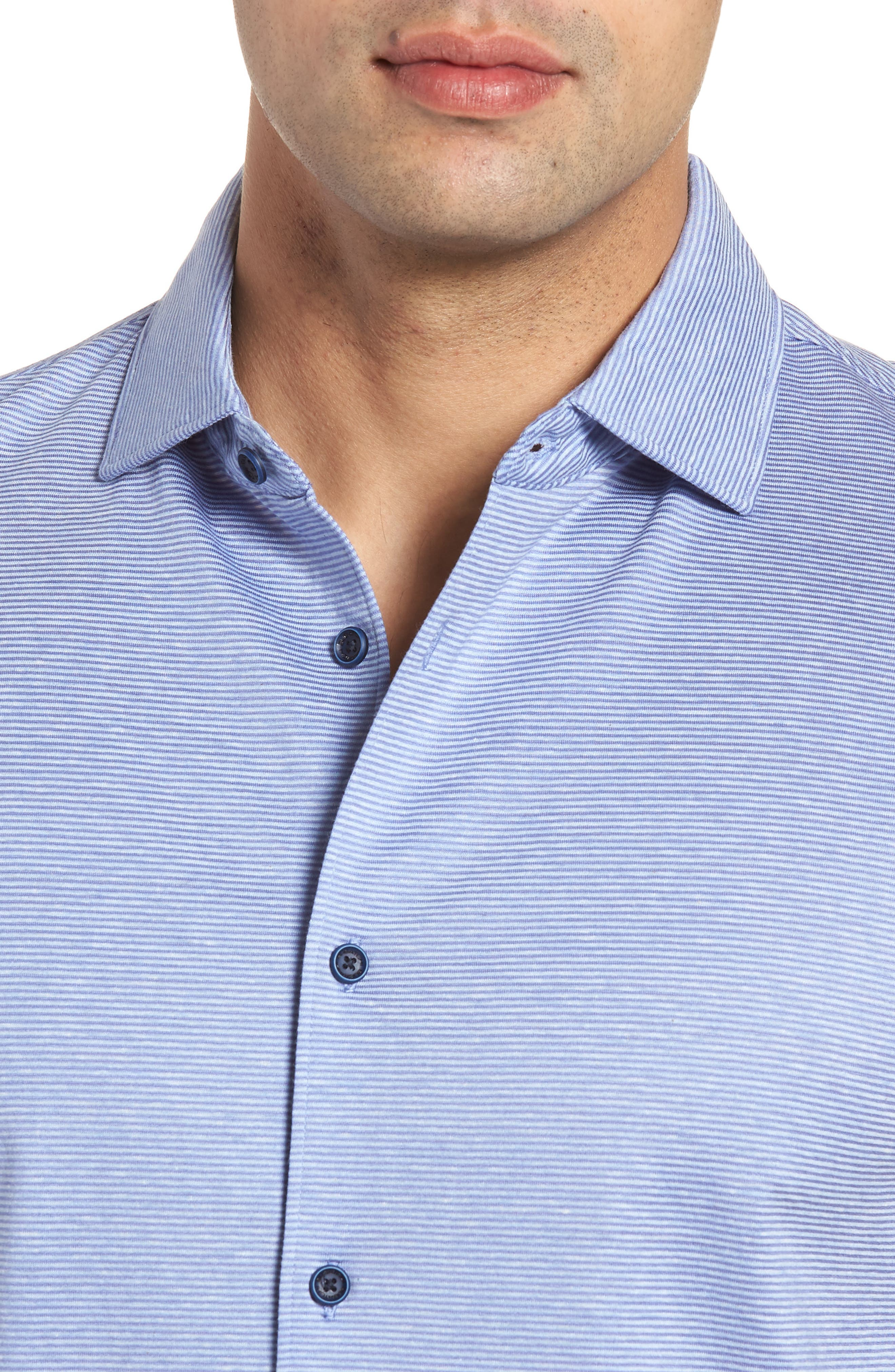 Regular Fit Knit Sport Shirt,                             Alternate thumbnail 4, color,                             Lilac