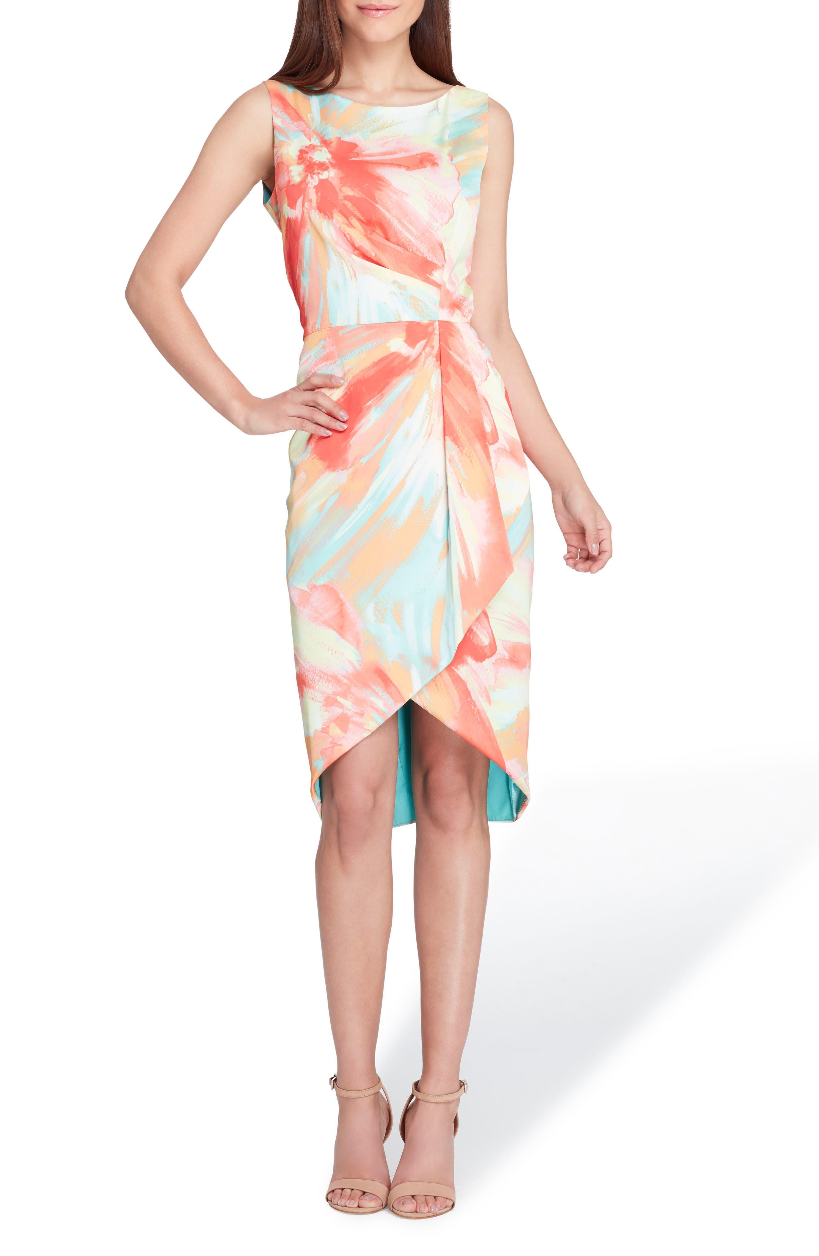 Tahari Print Charmeuse Sheath Dress (Regular & Petite)