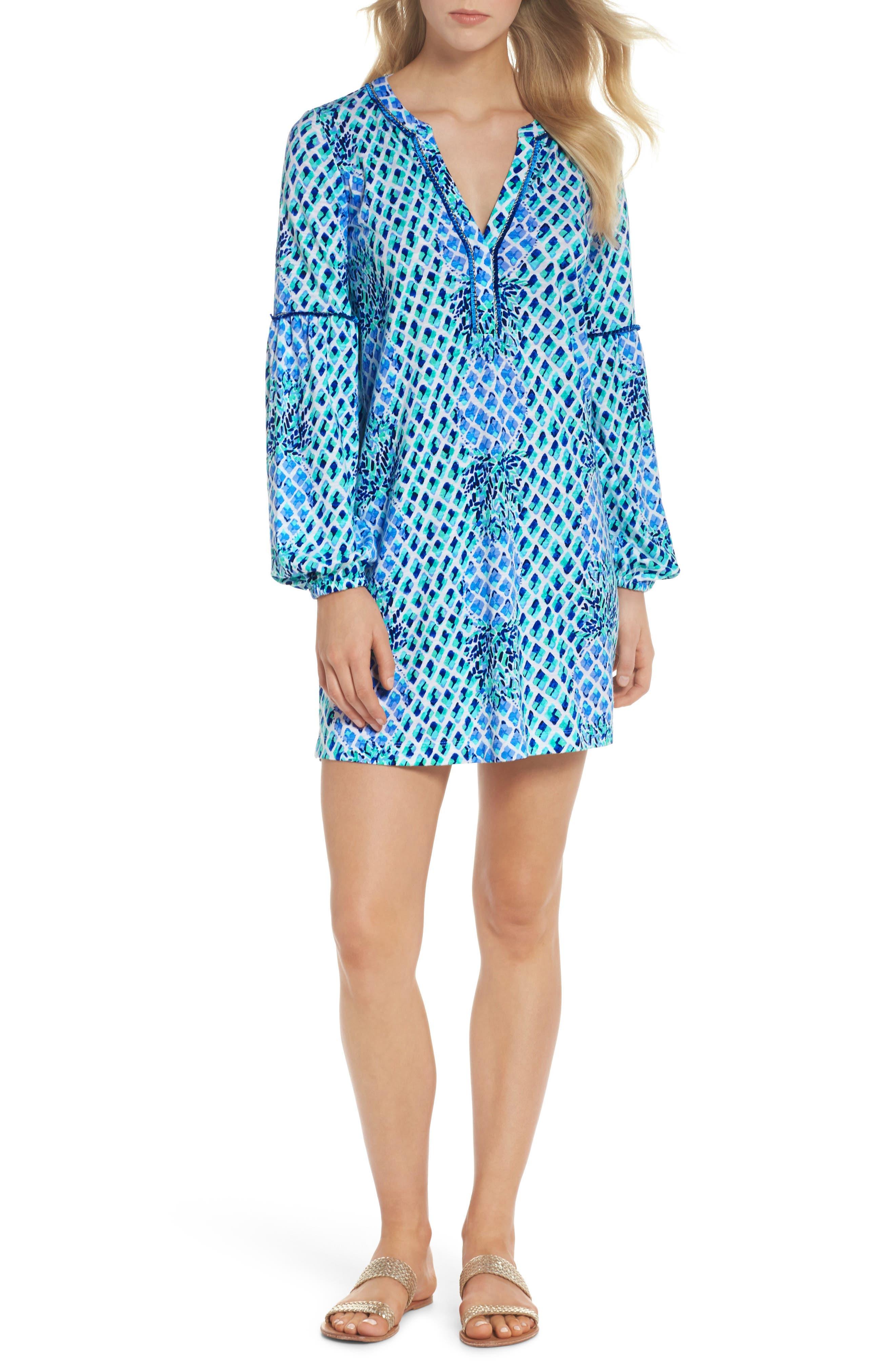 Joy Tunic Dress,                             Main thumbnail 1, color,                             Resort White Toe In