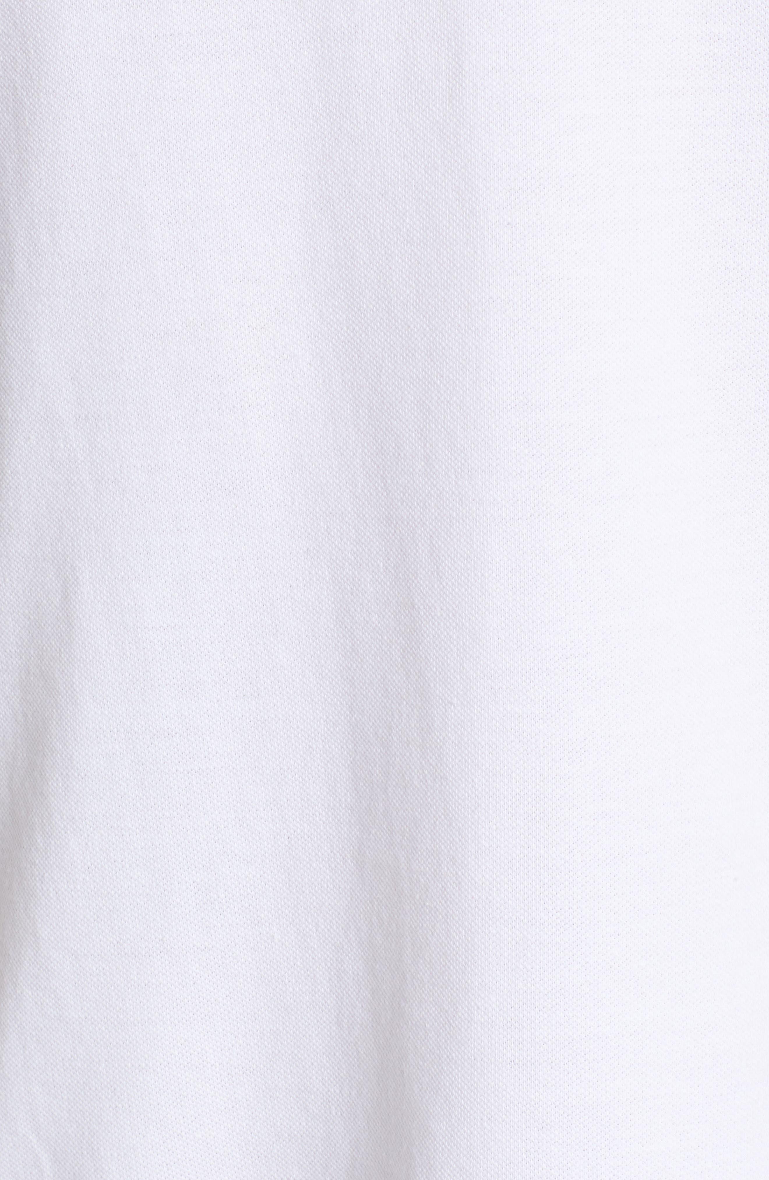 Birdseye Tipped Piqué Polo,                             Alternate thumbnail 5, color,                             Bright White