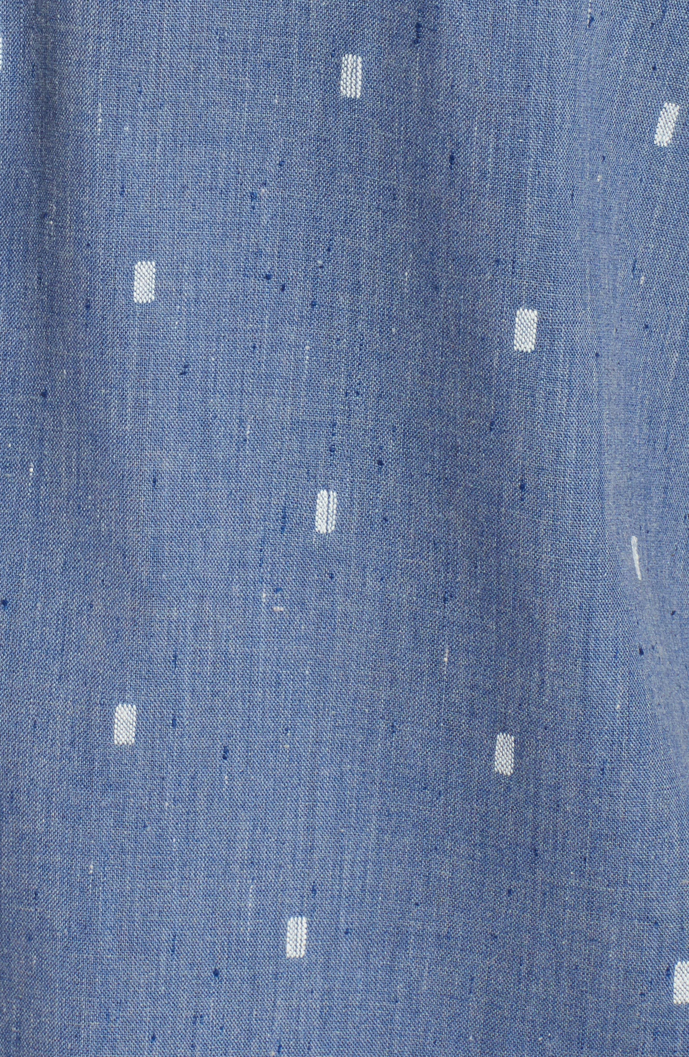 Gladstone Short Sleeve Shirt,                             Alternate thumbnail 5, color,                             Deep Blue