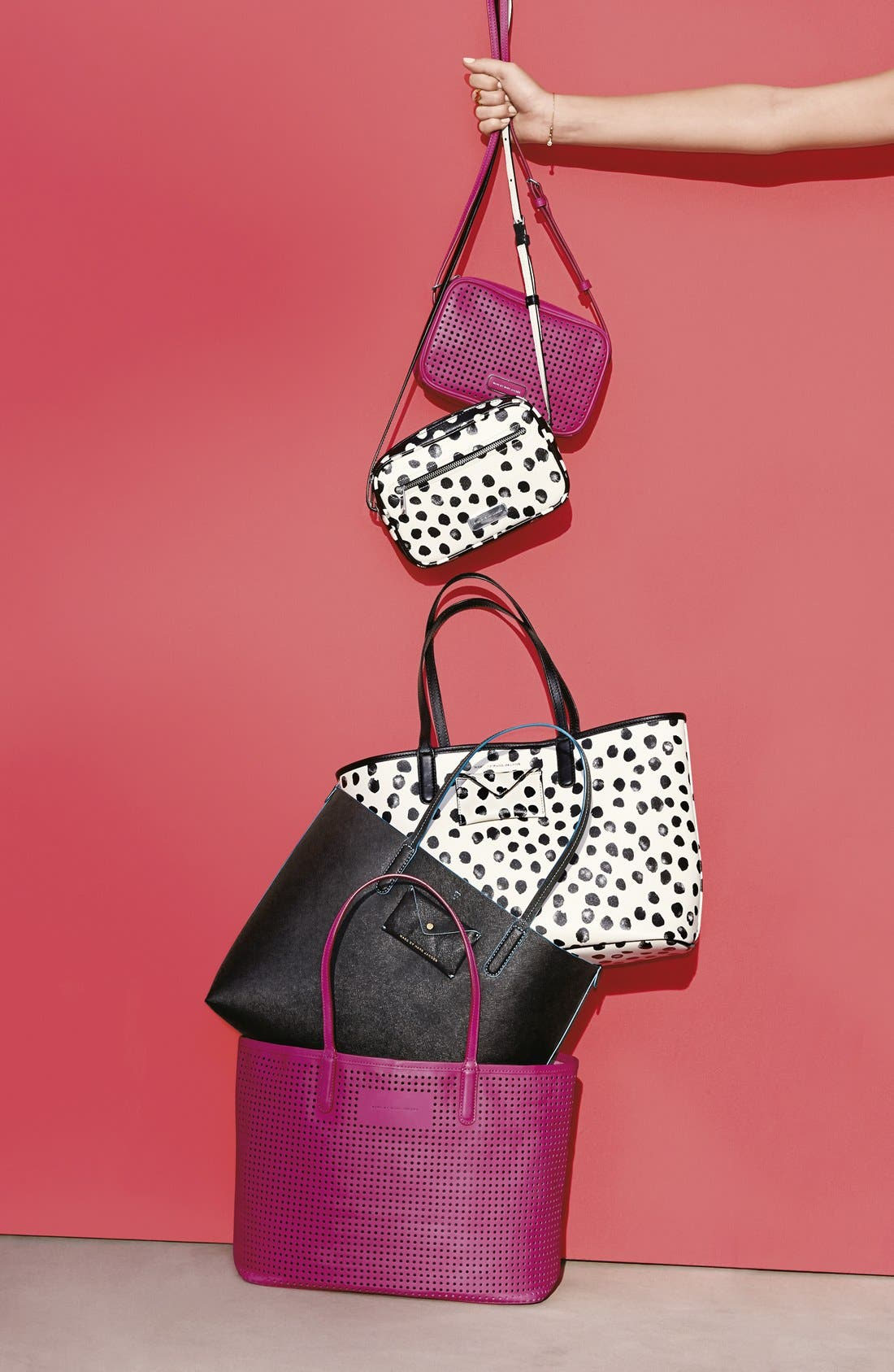 Alternate Image 2  - MARC BY MARC JACOBS 'Sally' Perforated Crossbody Bag