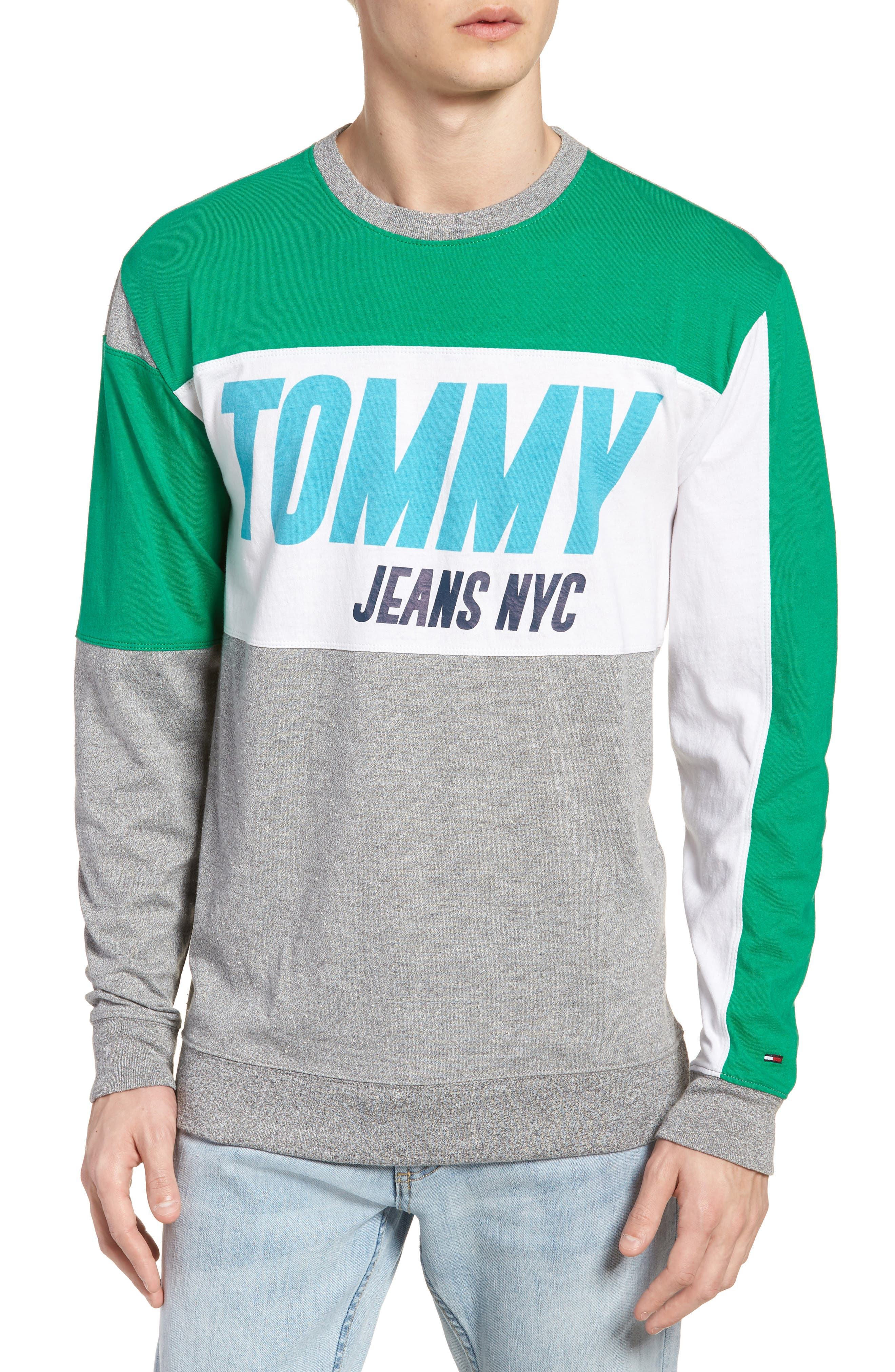 TOMMY JEANS Big Text Long Sleeve T-Shirt