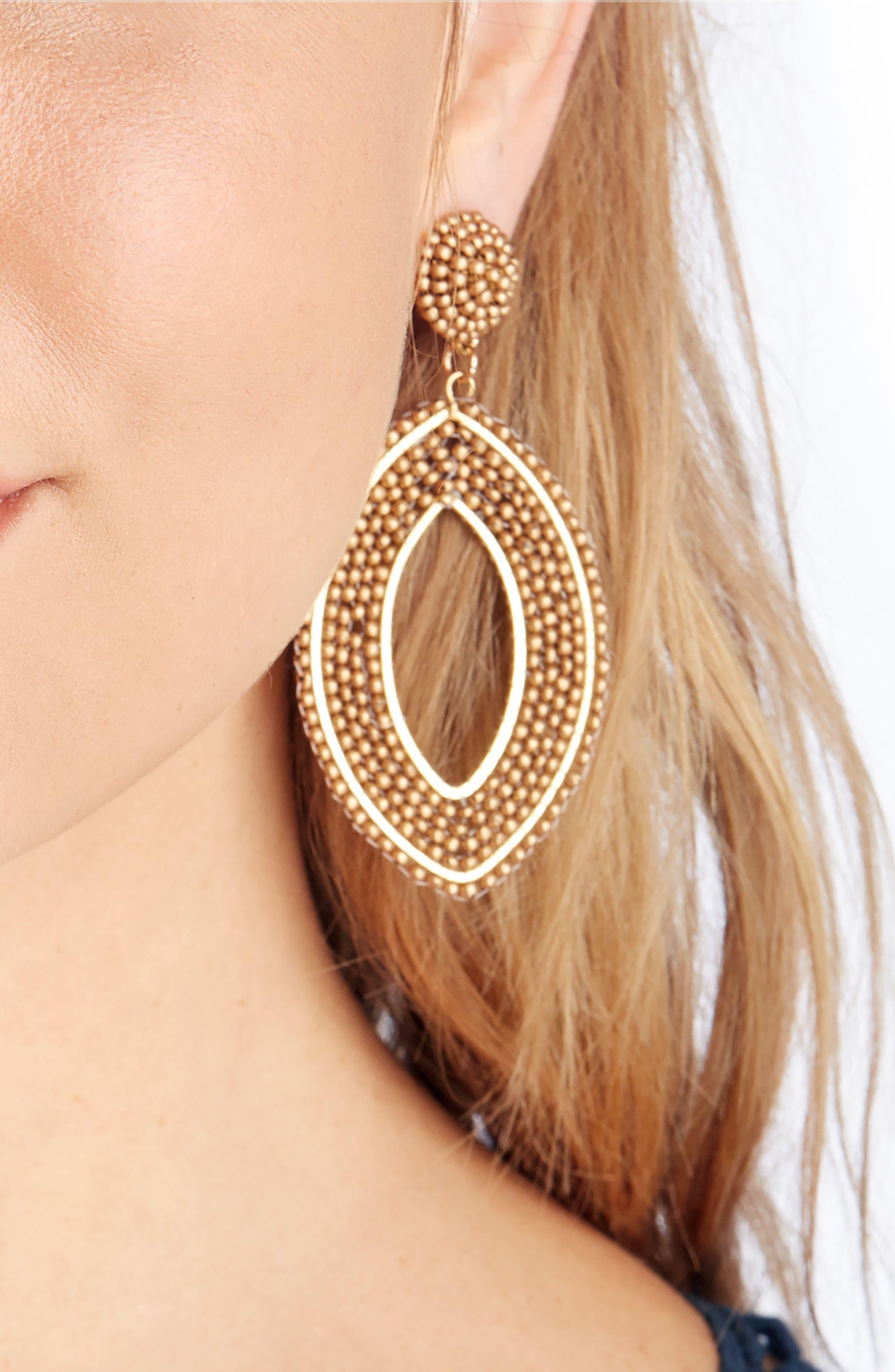 Alternate Image 2  - Sole Society Beaded Tier Drop Earrings