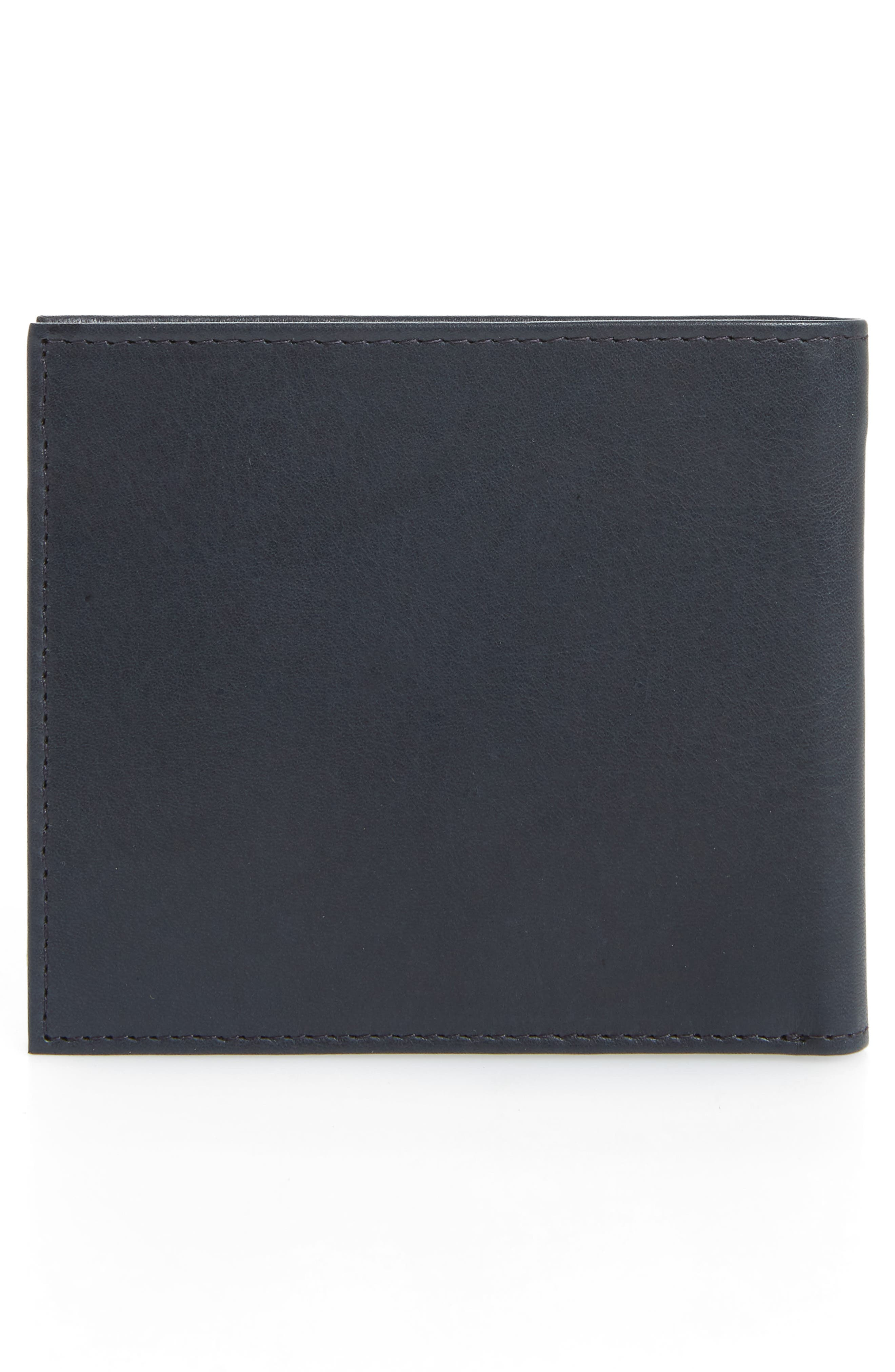 Rester Leather Bifold Wallet,                             Alternate thumbnail 3, color,                             Navy