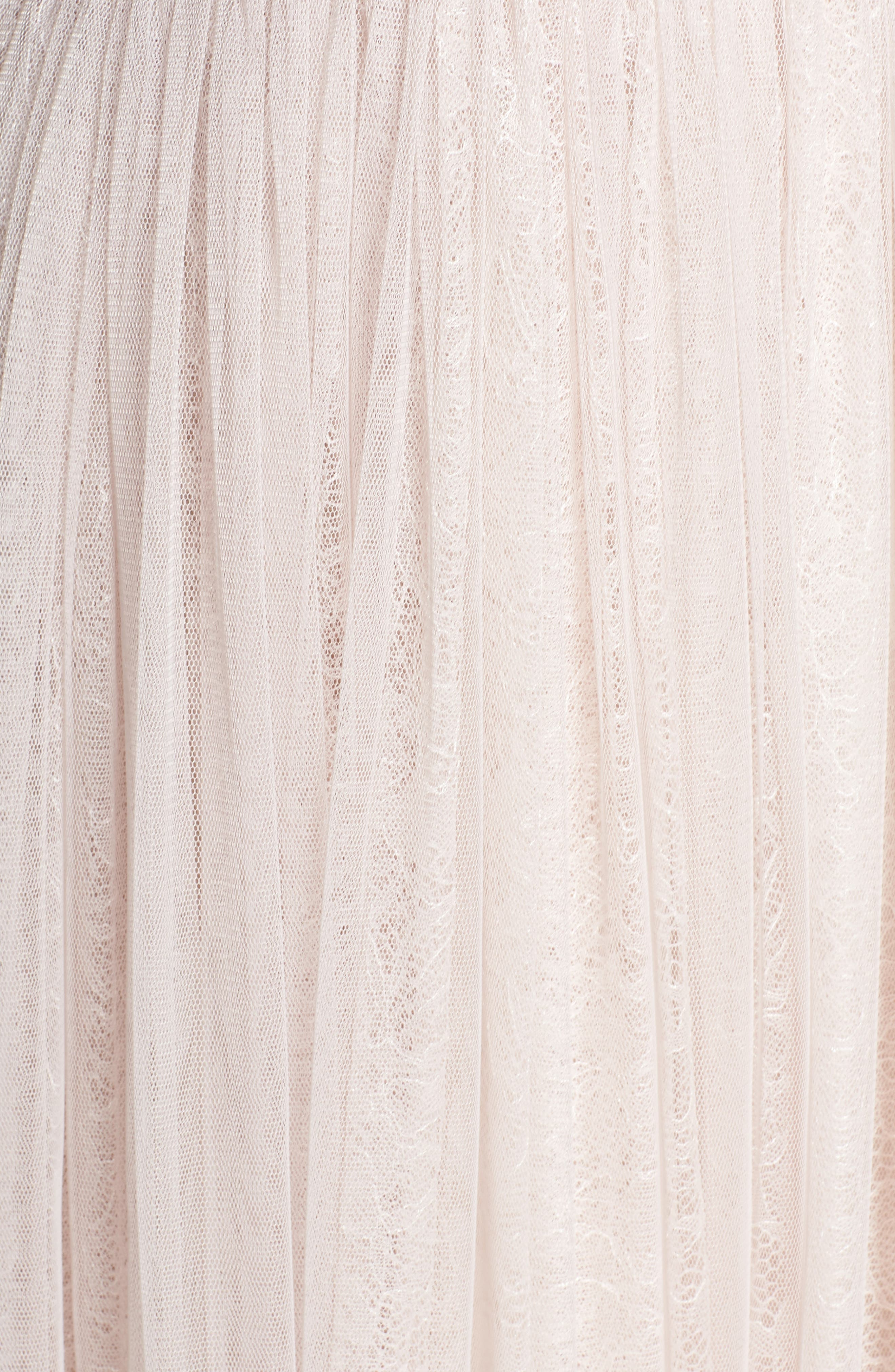 Embellished Bodice Tulle Gown,                             Alternate thumbnail 5, color,                             Pink