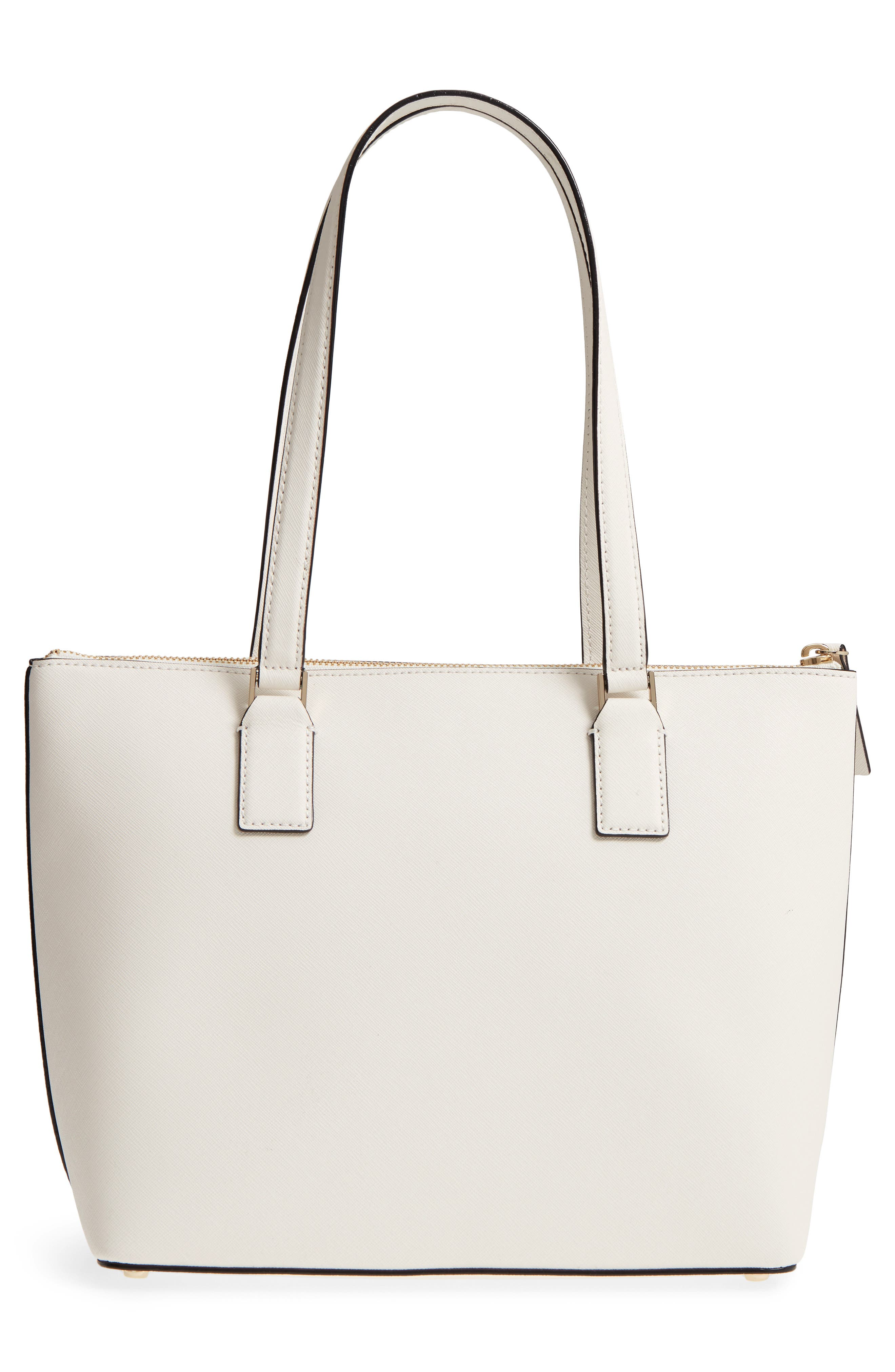 cameron street - small lucie leather tote,                             Alternate thumbnail 4, color,                             Cement