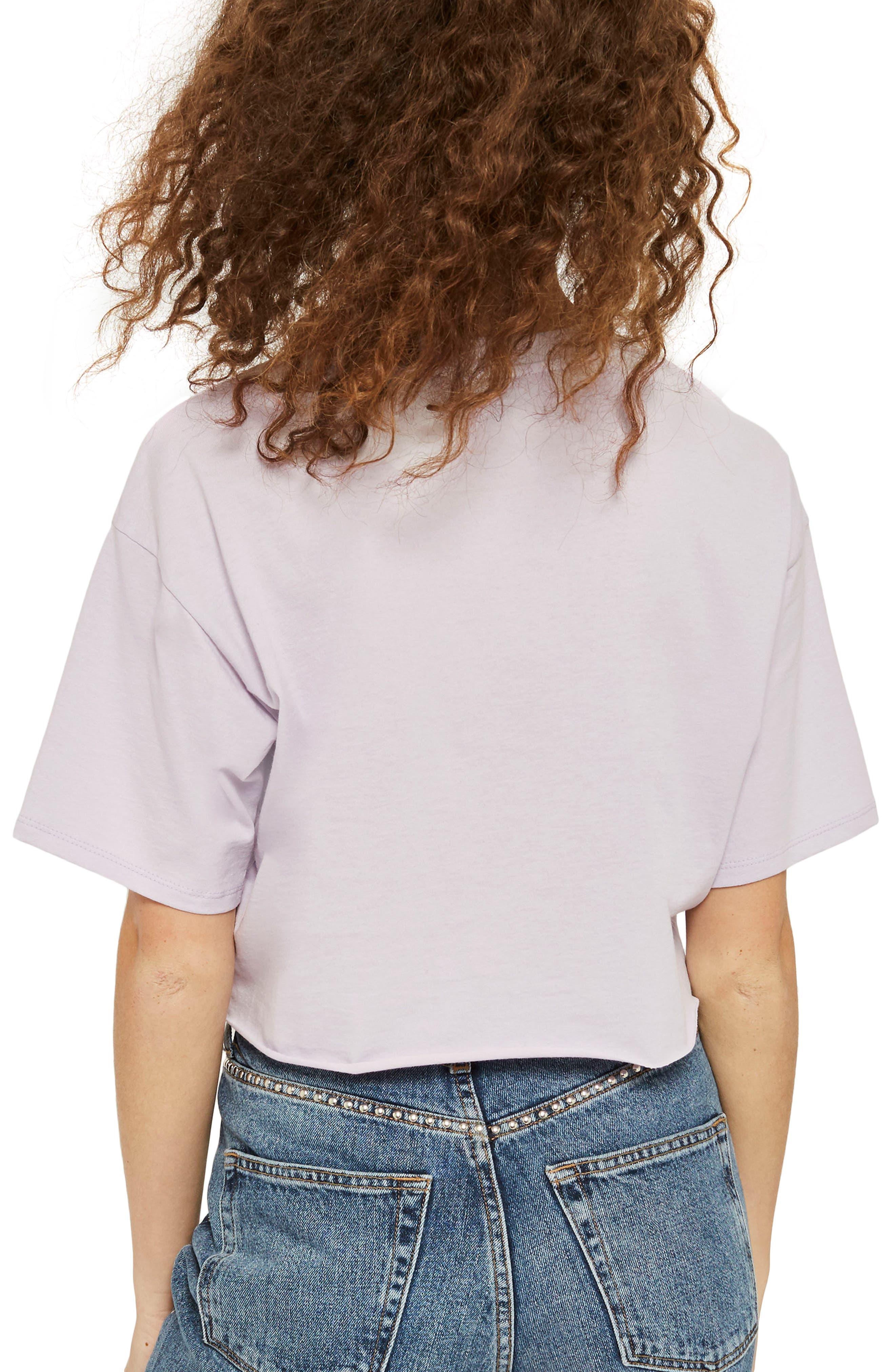 LA Rainbow Stripe T-Shirt,                             Alternate thumbnail 3, color,                             Lilac