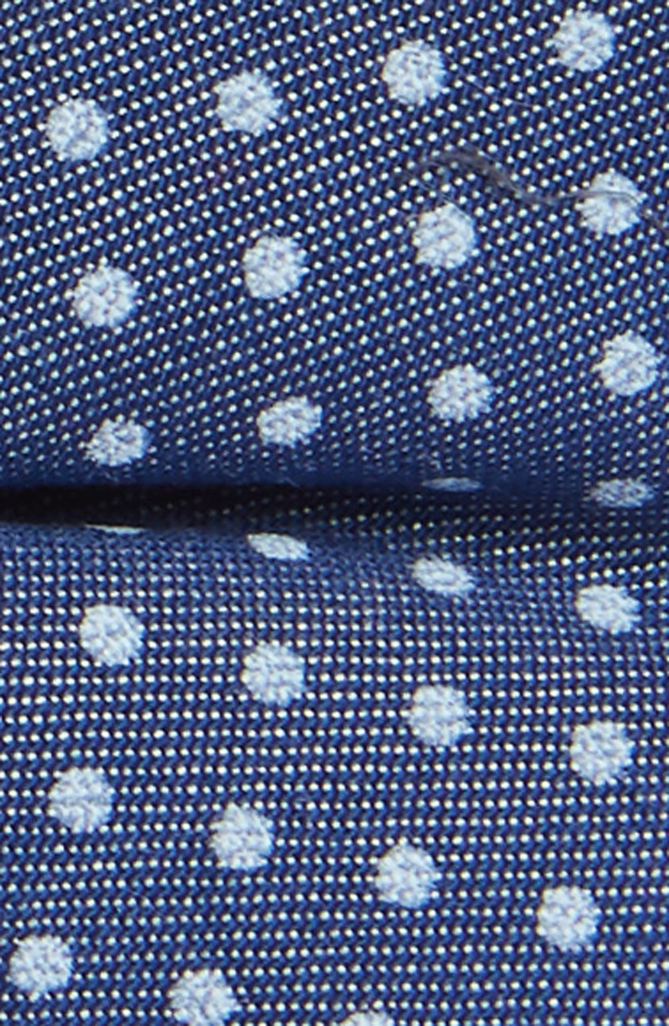 Chambray Dot Silk Bow Tie,                             Alternate thumbnail 2, color,                             Blue
