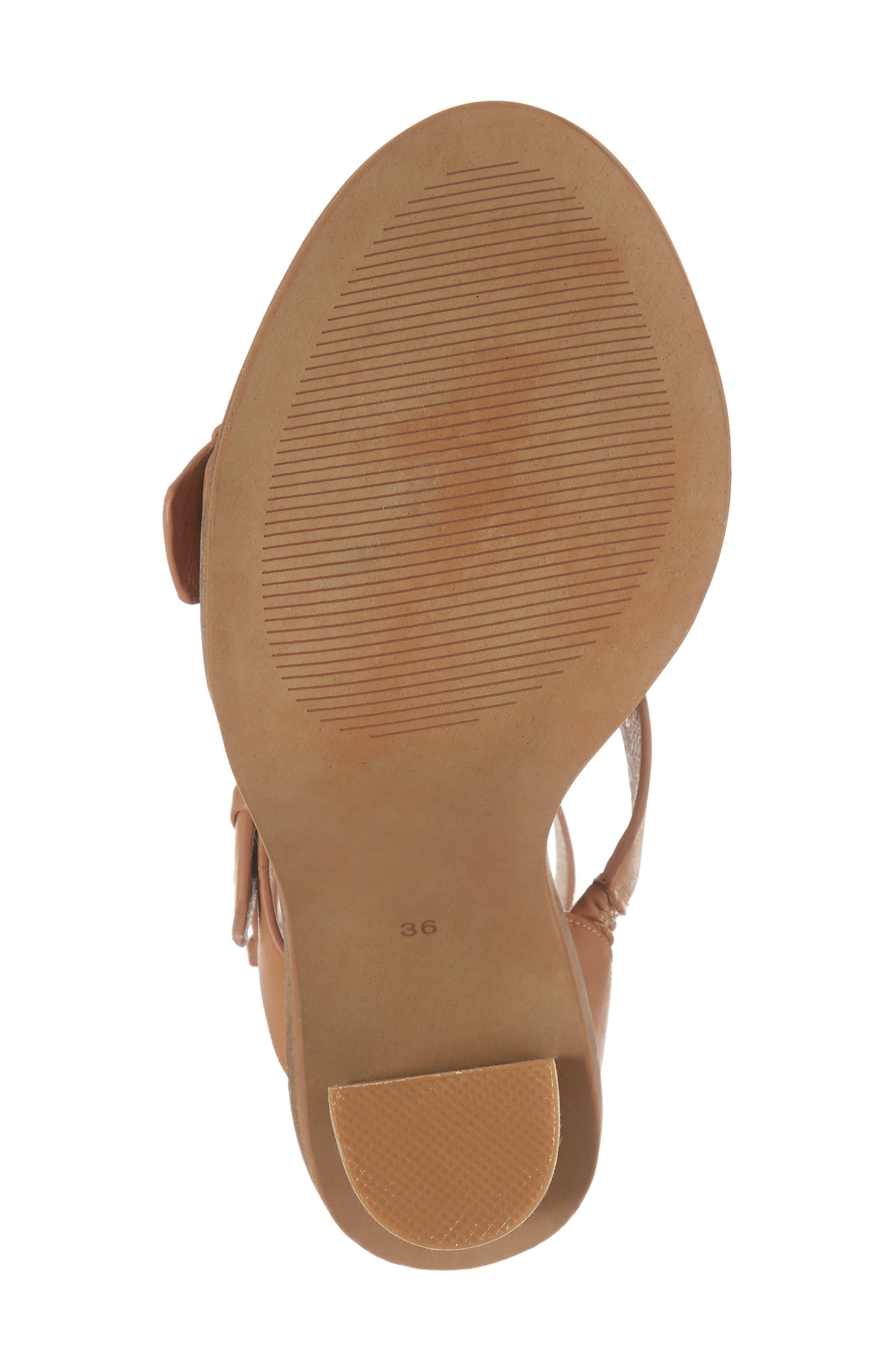 Adore Tall Cuffed Sandal,                             Alternate thumbnail 6, color,                             Light Tan Leather
