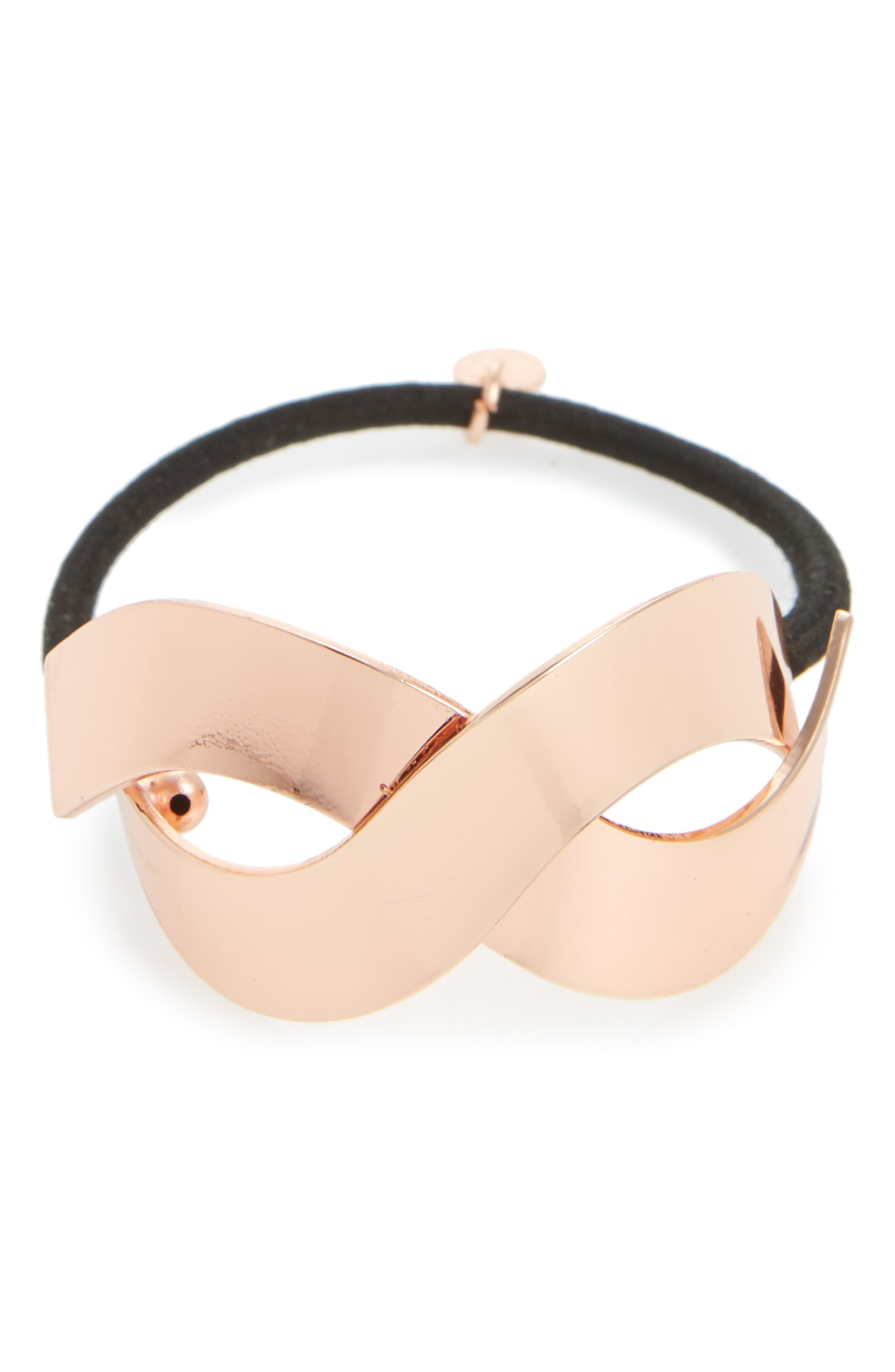 Cara Metal Crisscross Cuff Ponytail Holder
