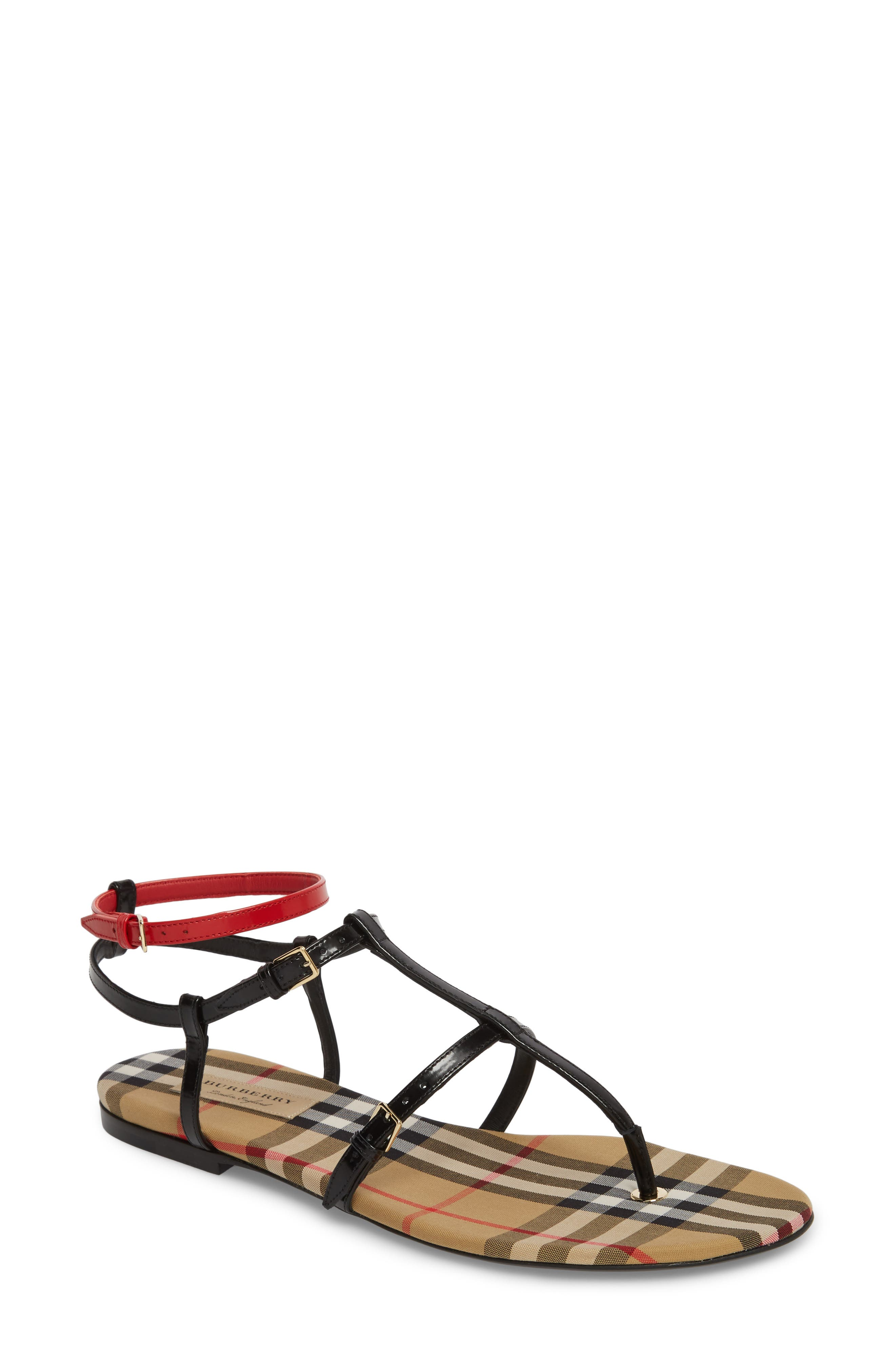 Burberry Anthea Check Thong Sandal (Women)