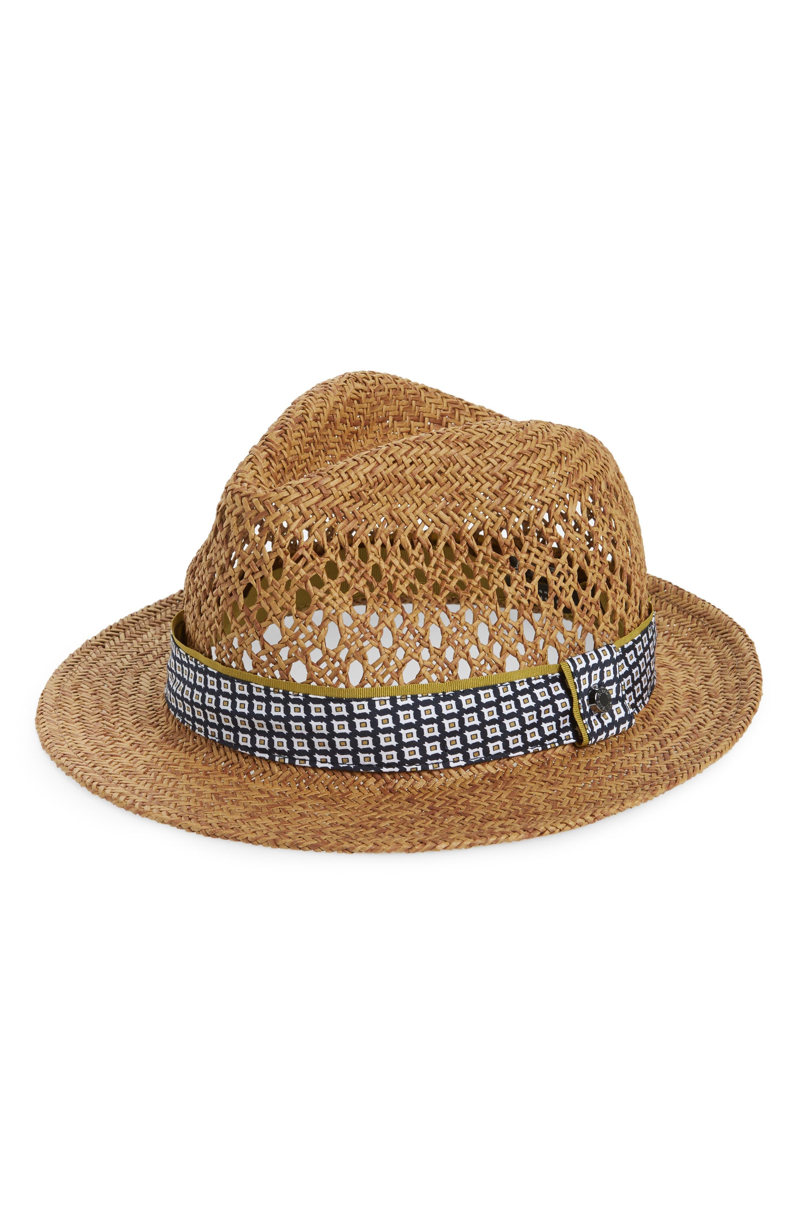Harlow Straw Hat,                         Main,                         color, Natural