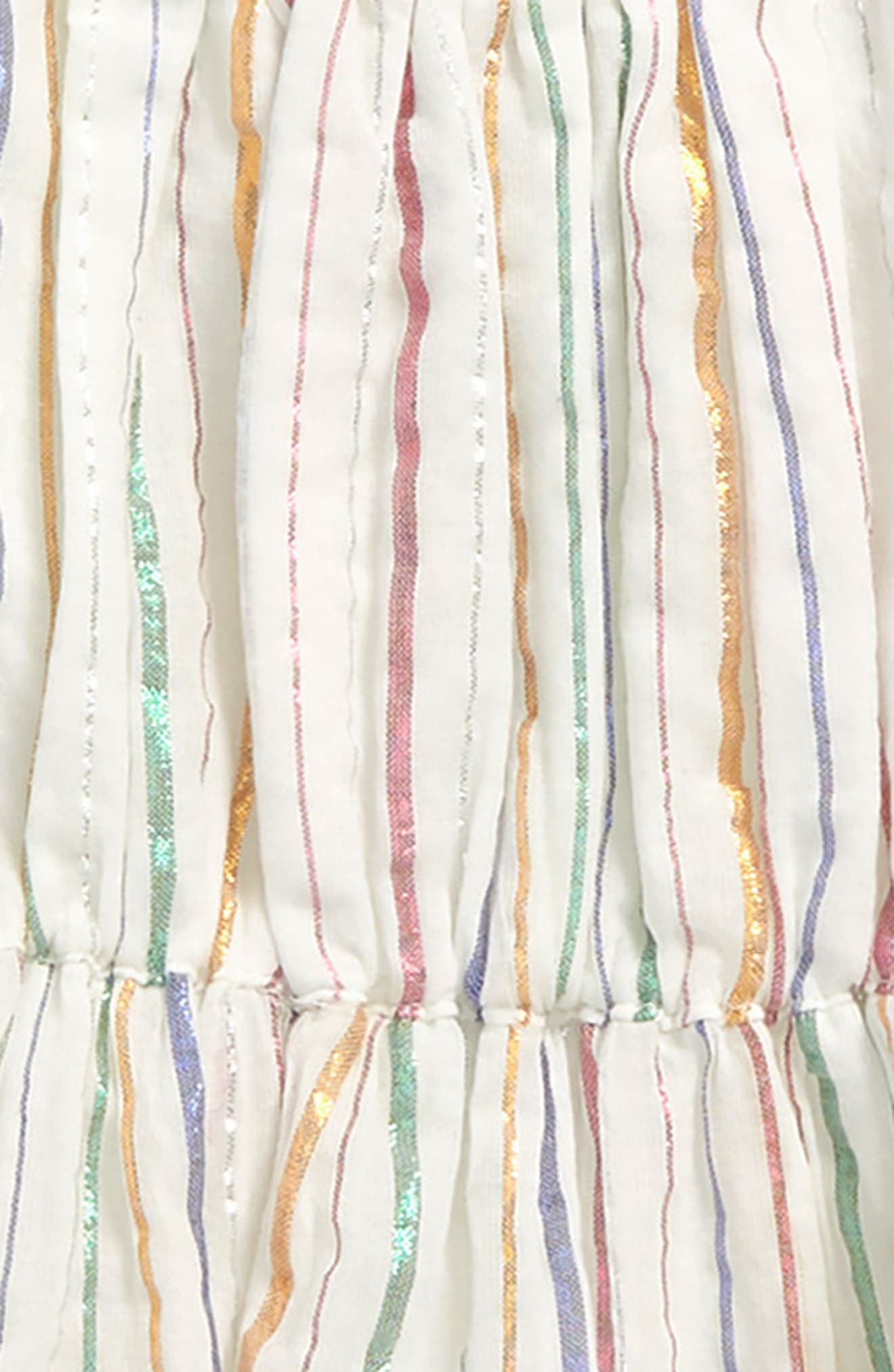 Sienna Stripe Dress,                             Alternate thumbnail 2, color,                             Rose Gold