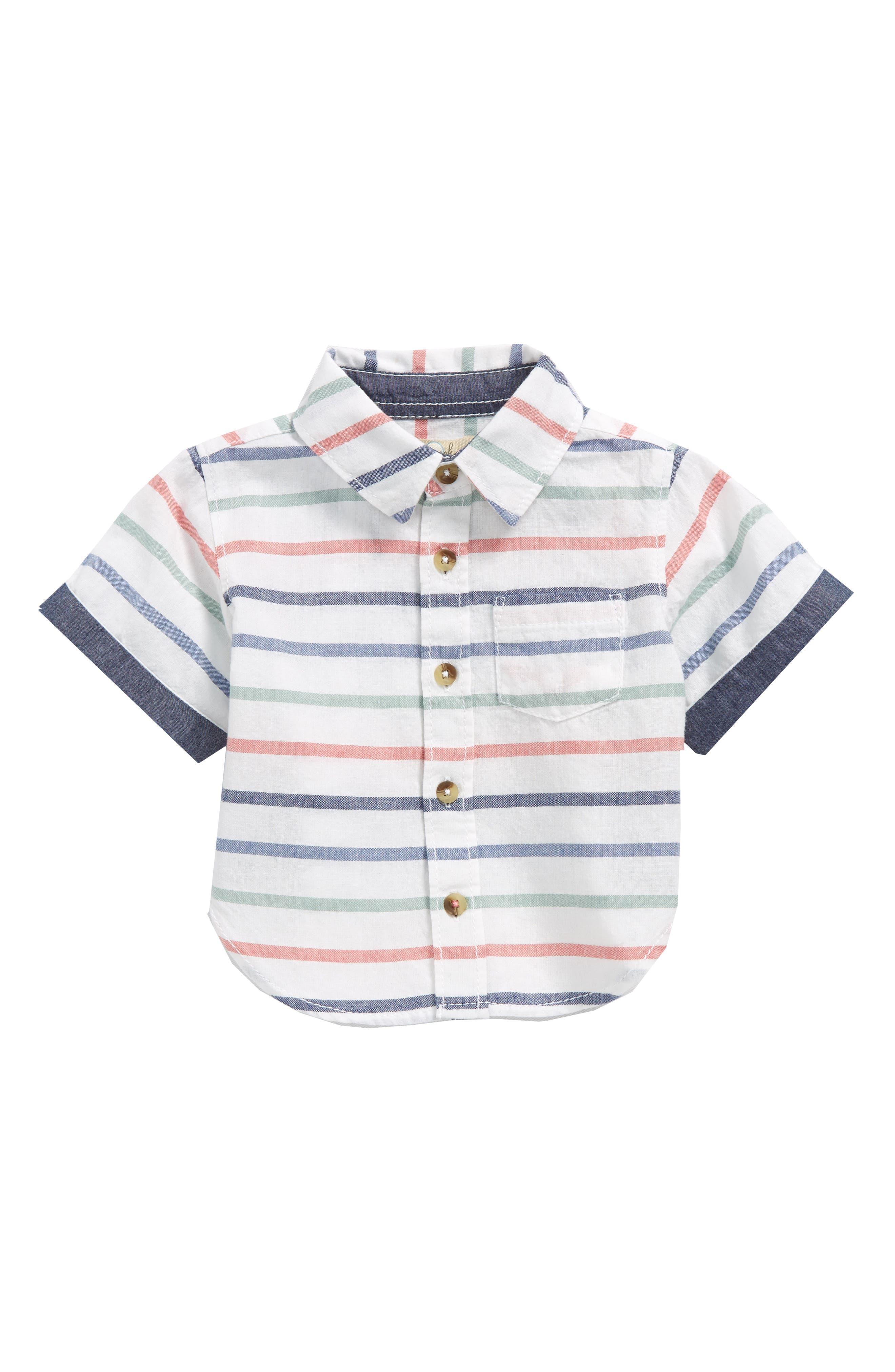 Peek Hampton Stripe Woven Shirt (Baby Boys)