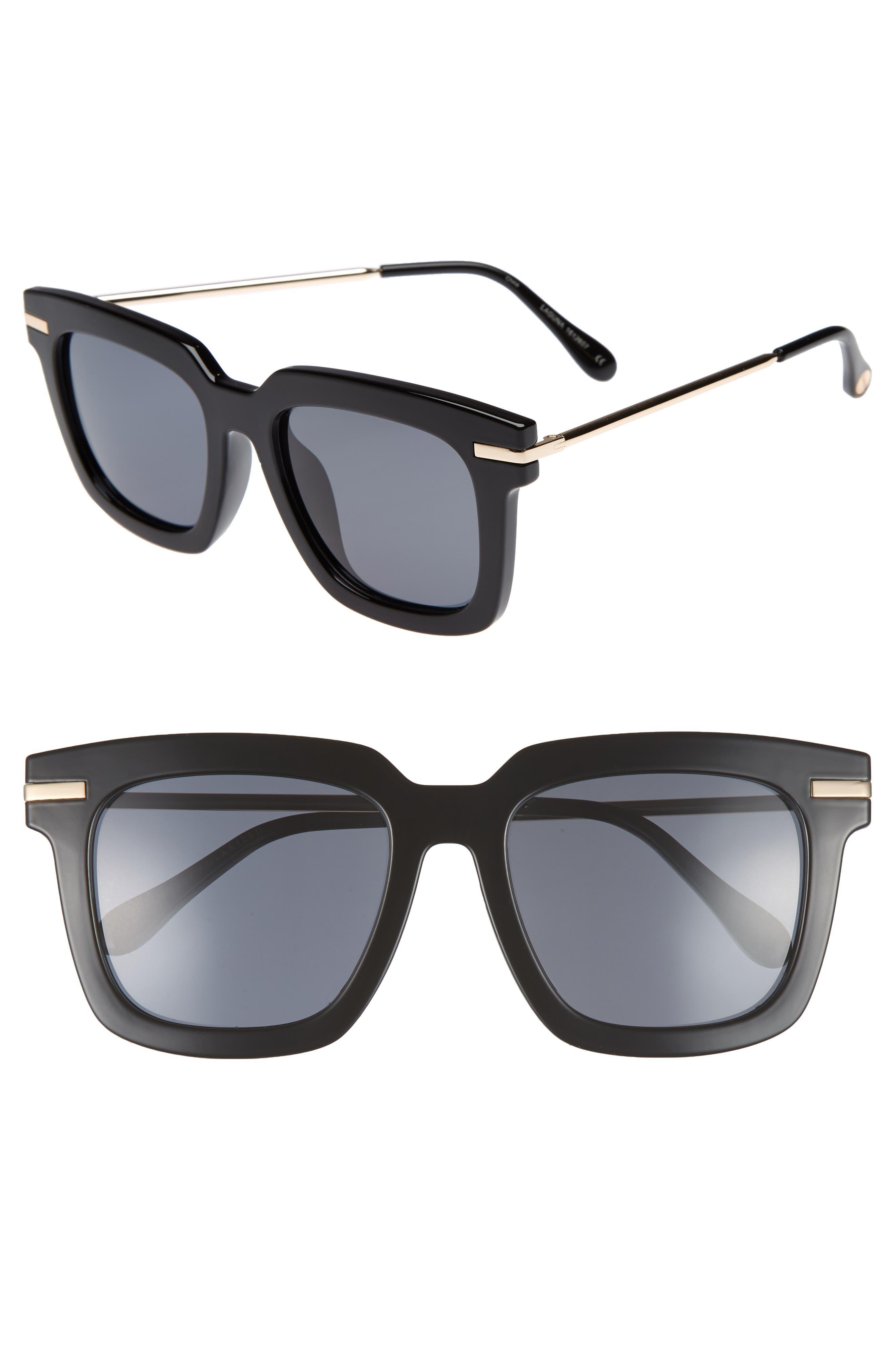 Laguna 51mm Polarized Sunglasses,                             Main thumbnail 1, color,                             Black