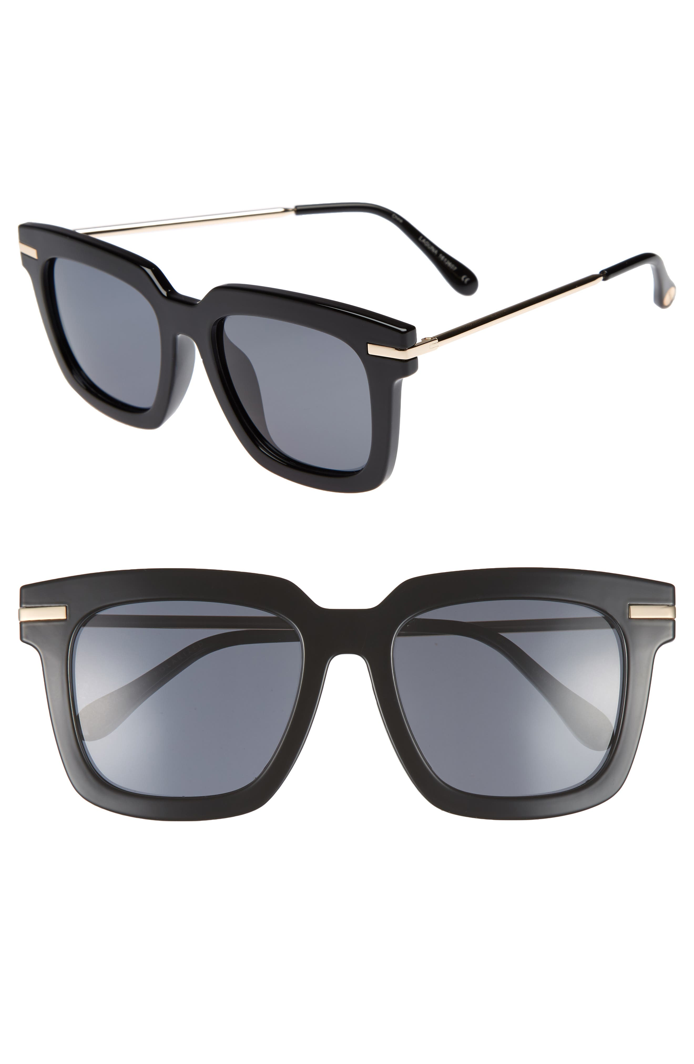 Laguna 51mm Polarized Sunglasses,                         Main,                         color, Black