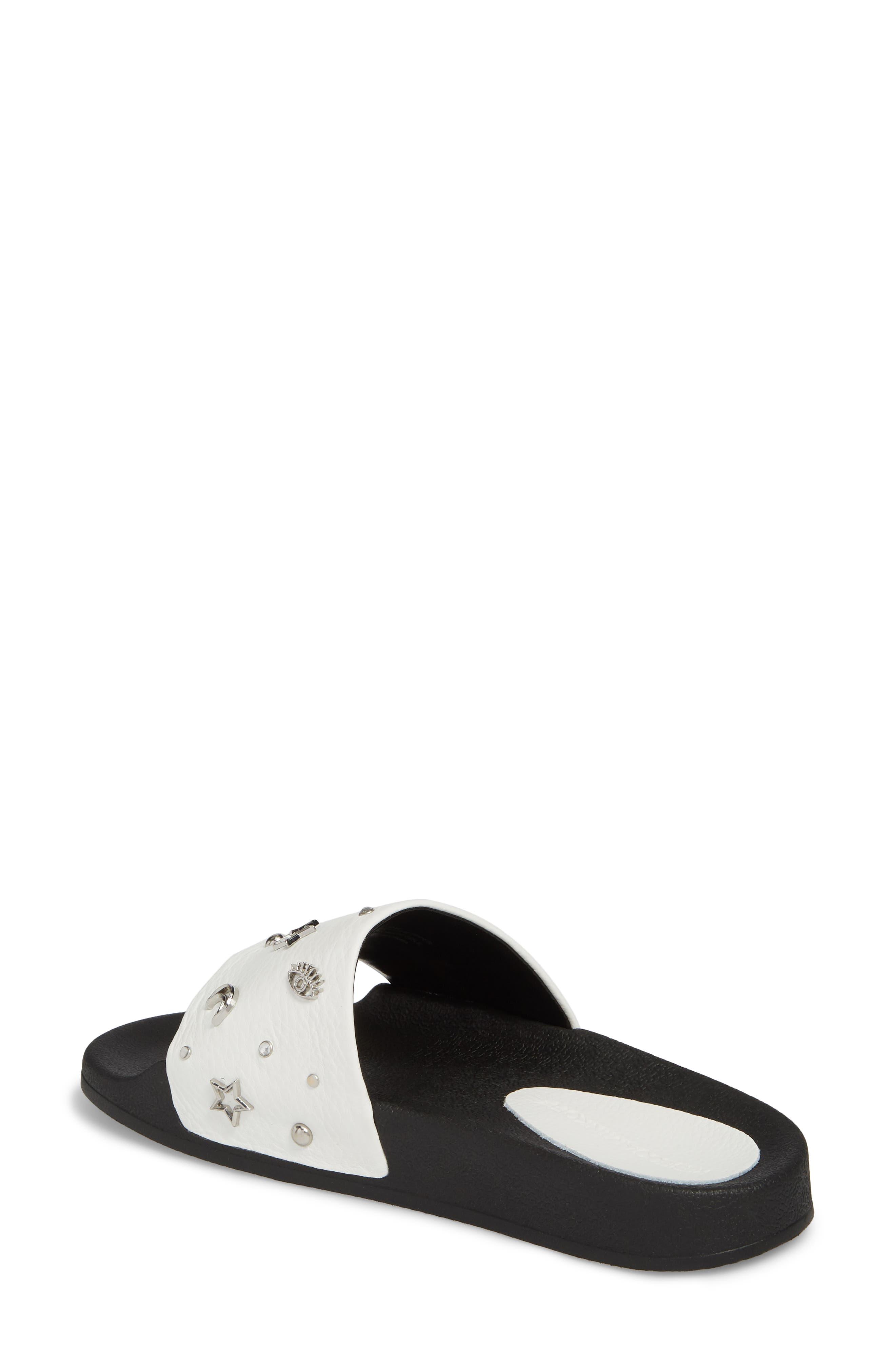 Thunder Slide Sandal,                             Alternate thumbnail 2, color,                             White Leather