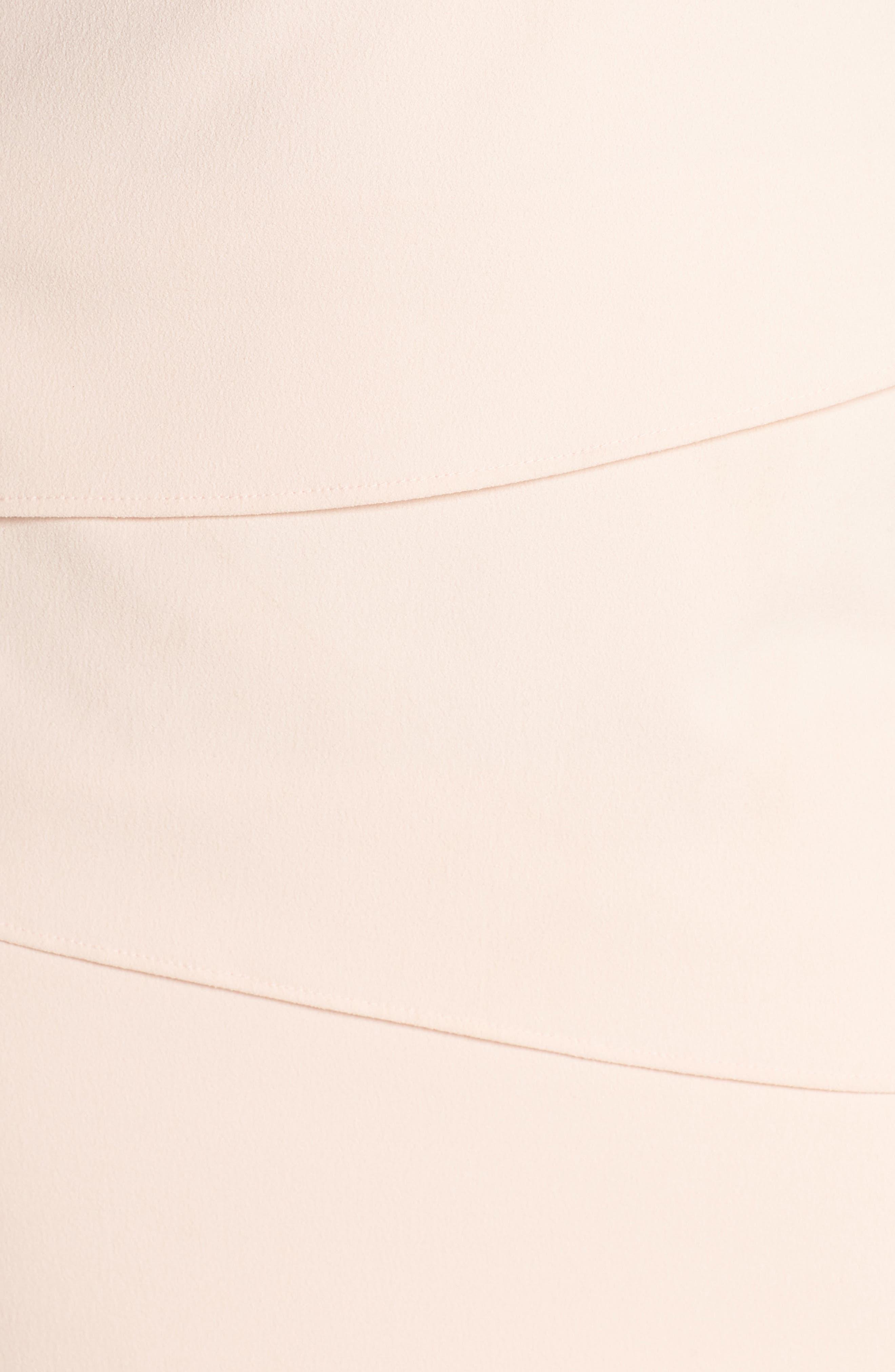 Beaded Illusion Tiered Sheath Dress,                             Alternate thumbnail 5, color,                             Blush