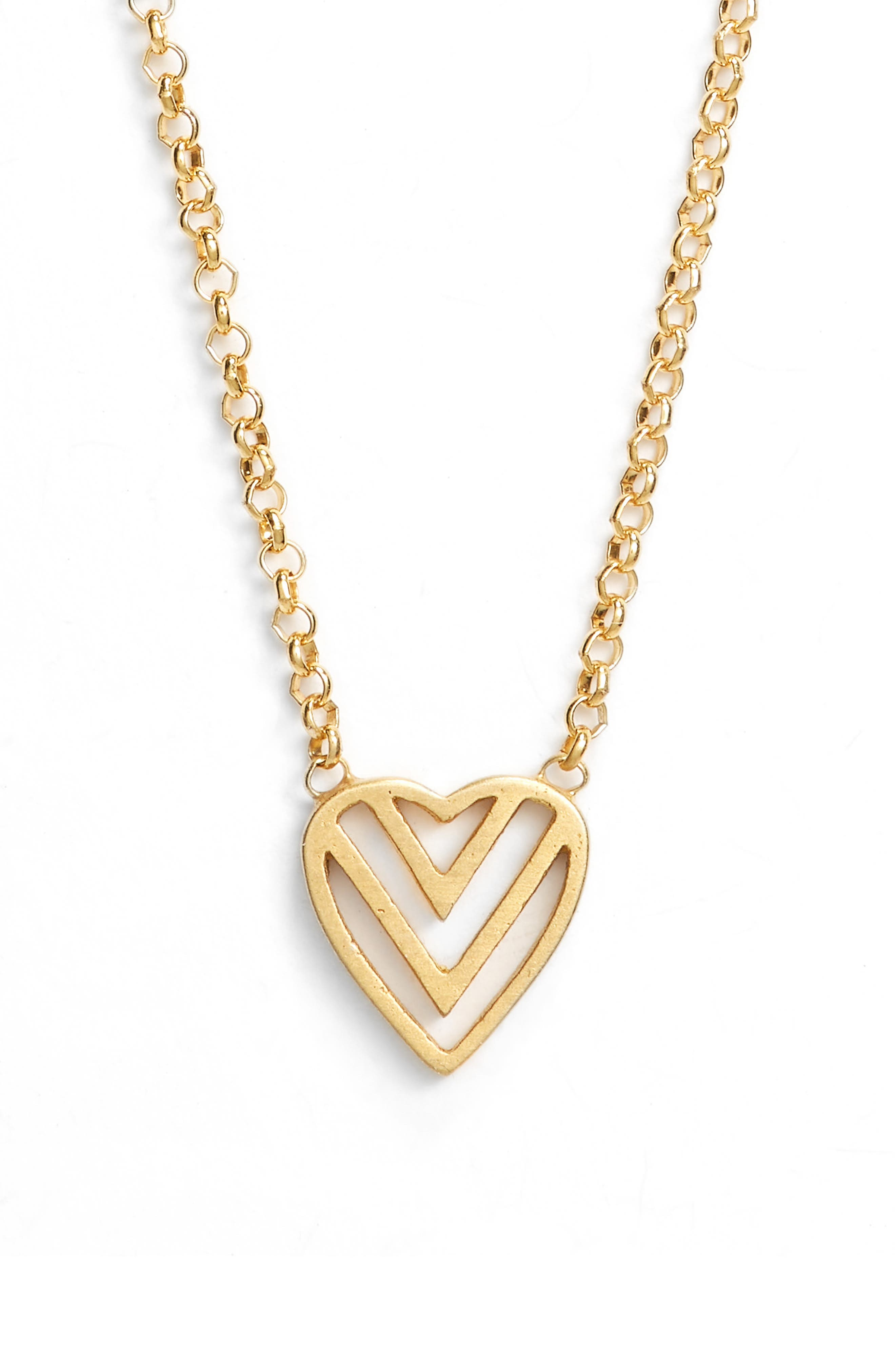 Love Knot Necklace,                             Alternate thumbnail 3, color,                             Gold