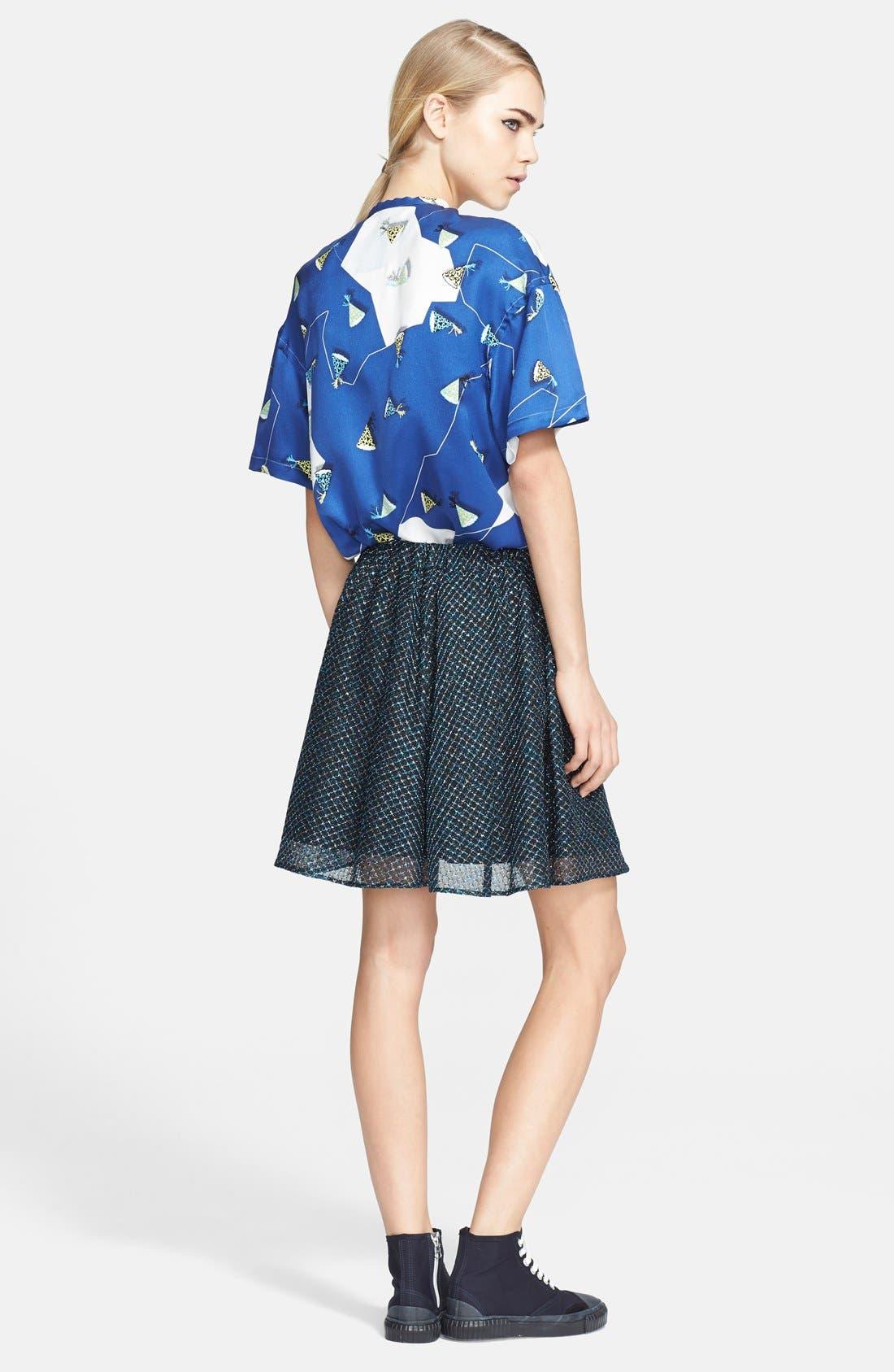 Alternate Image 2  - Julien David Lamé Lace Skirt