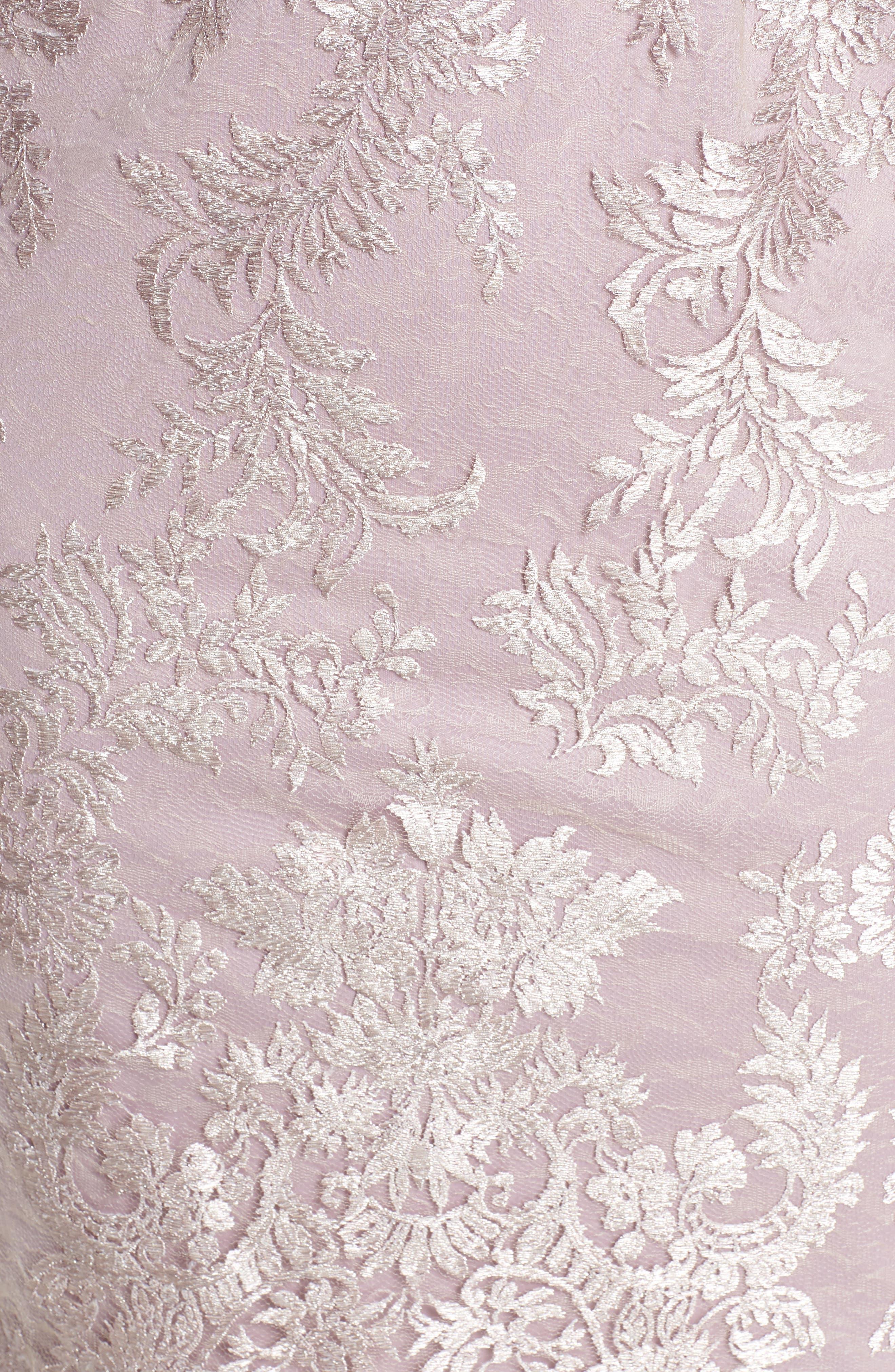 Scallop Edge Popover Sheath Dress,                             Alternate thumbnail 5, color,                             Lily Rose