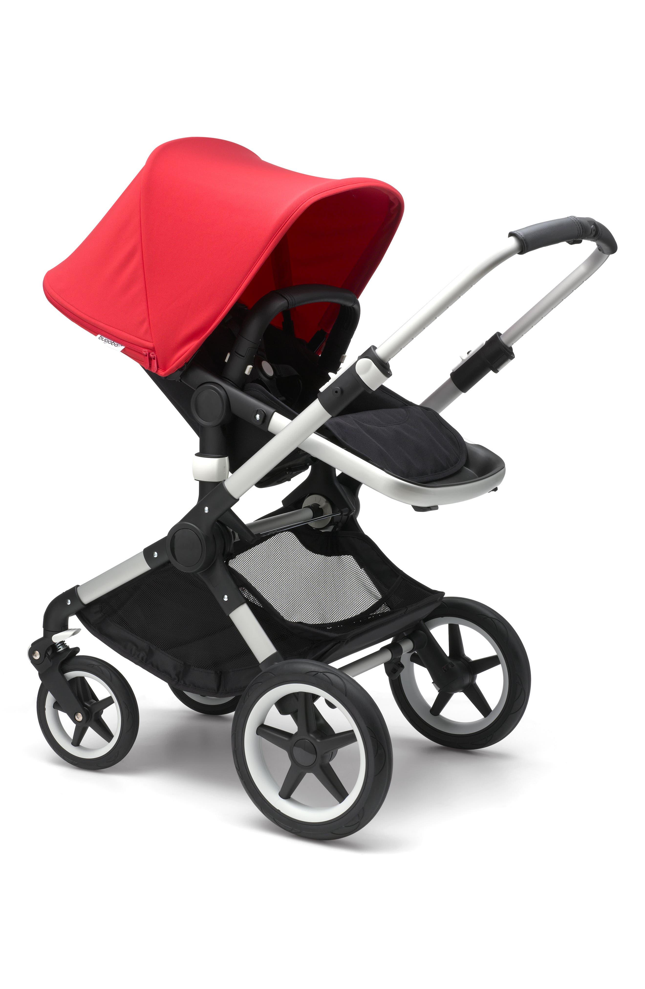 Fox Complete Stroller,                             Alternate thumbnail 2, color,                             Neon Red/ Aluminum
