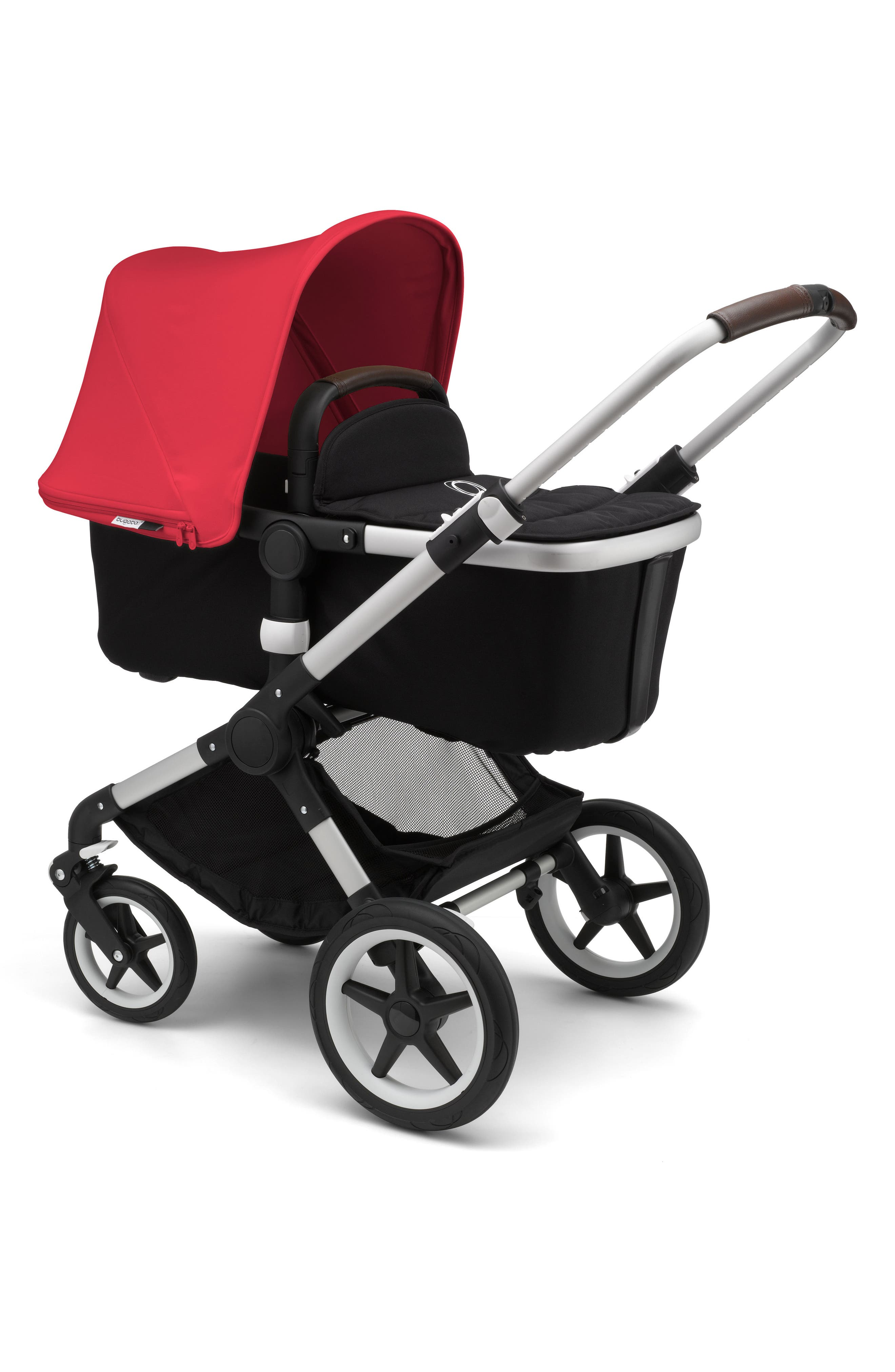 Fox Complete Stroller,                             Main thumbnail 1, color,                             Neon Red/ Aluminum