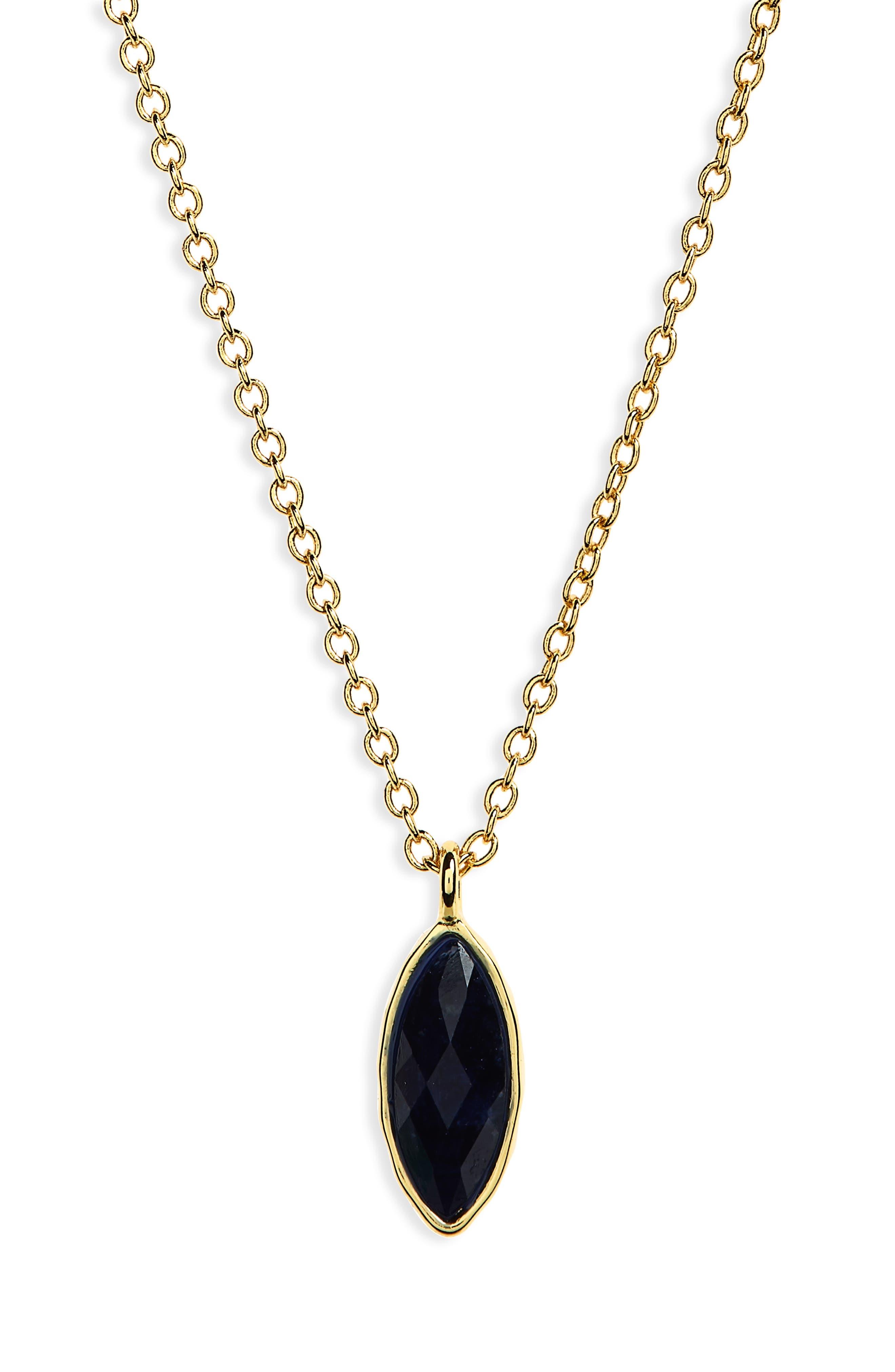 Palisades Adjustable Charm Necklace,                             Main thumbnail 1, color,                             Sodalite/ Gold