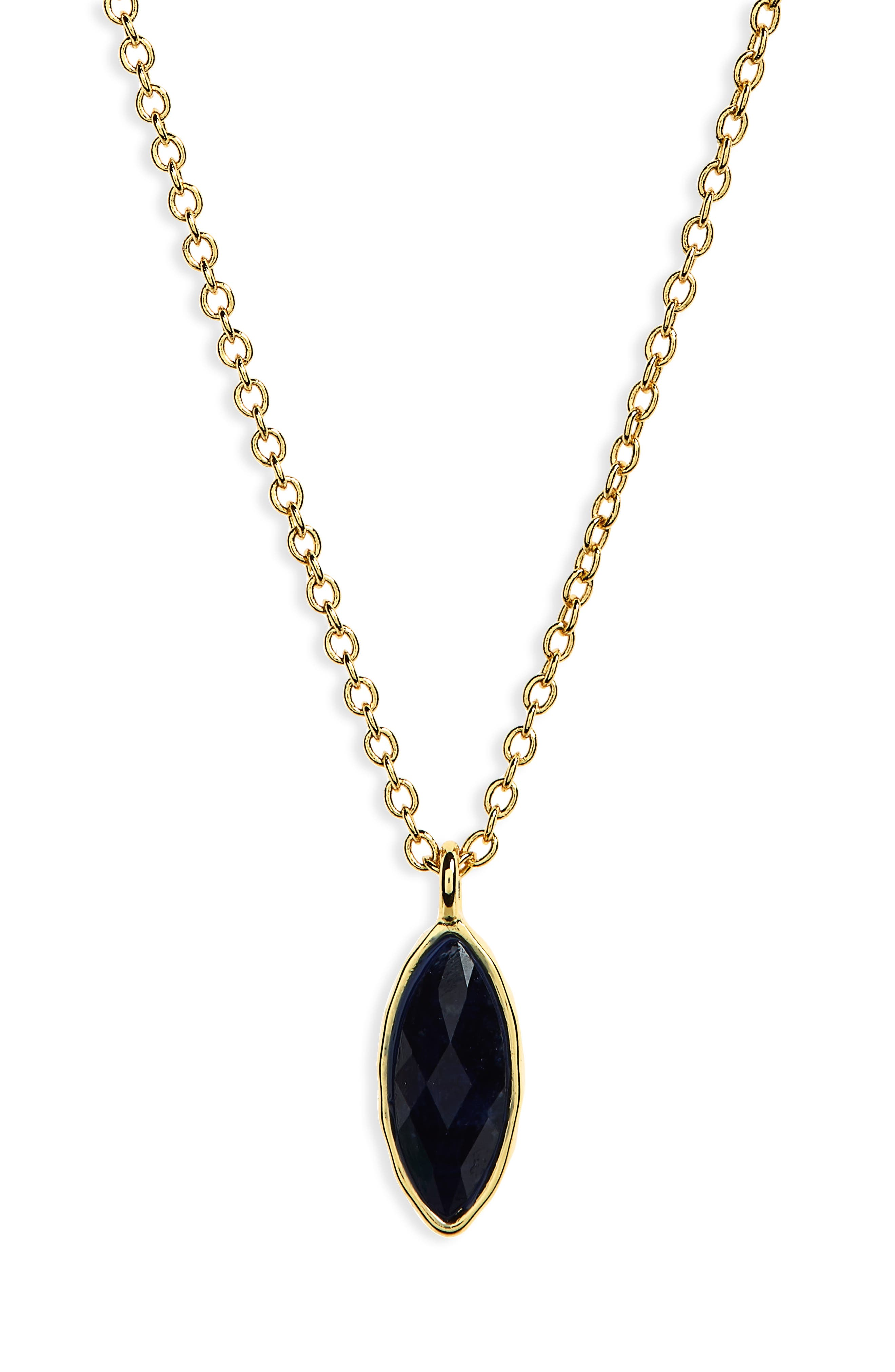 Palisades Adjustable Charm Necklace,                         Main,                         color, Sodalite/ Gold