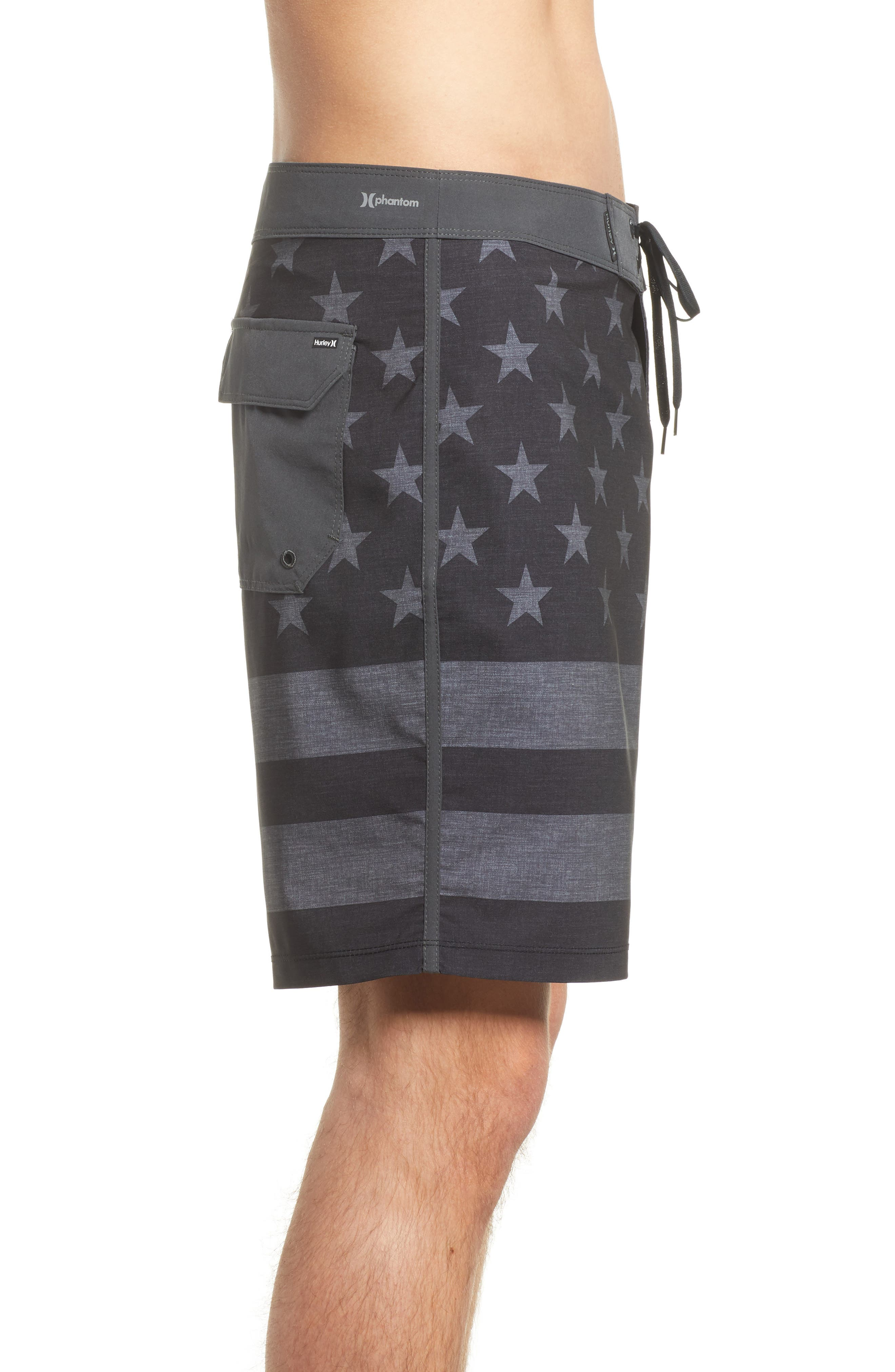 Phantom Cheers Board Shorts,                             Alternate thumbnail 3, color,                             Black