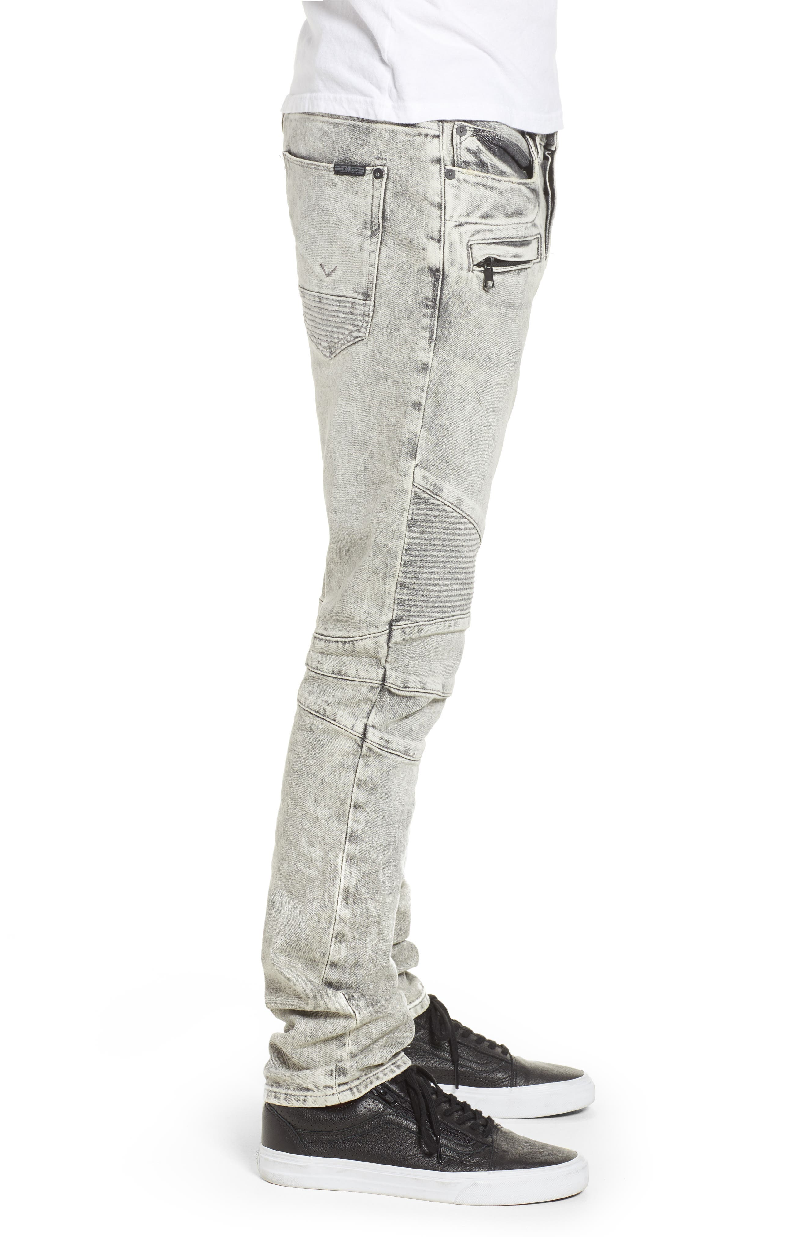 Hudson Blinder Biker Skinny Fit Jeans,                             Alternate thumbnail 3, color,                             Carbon Fiber