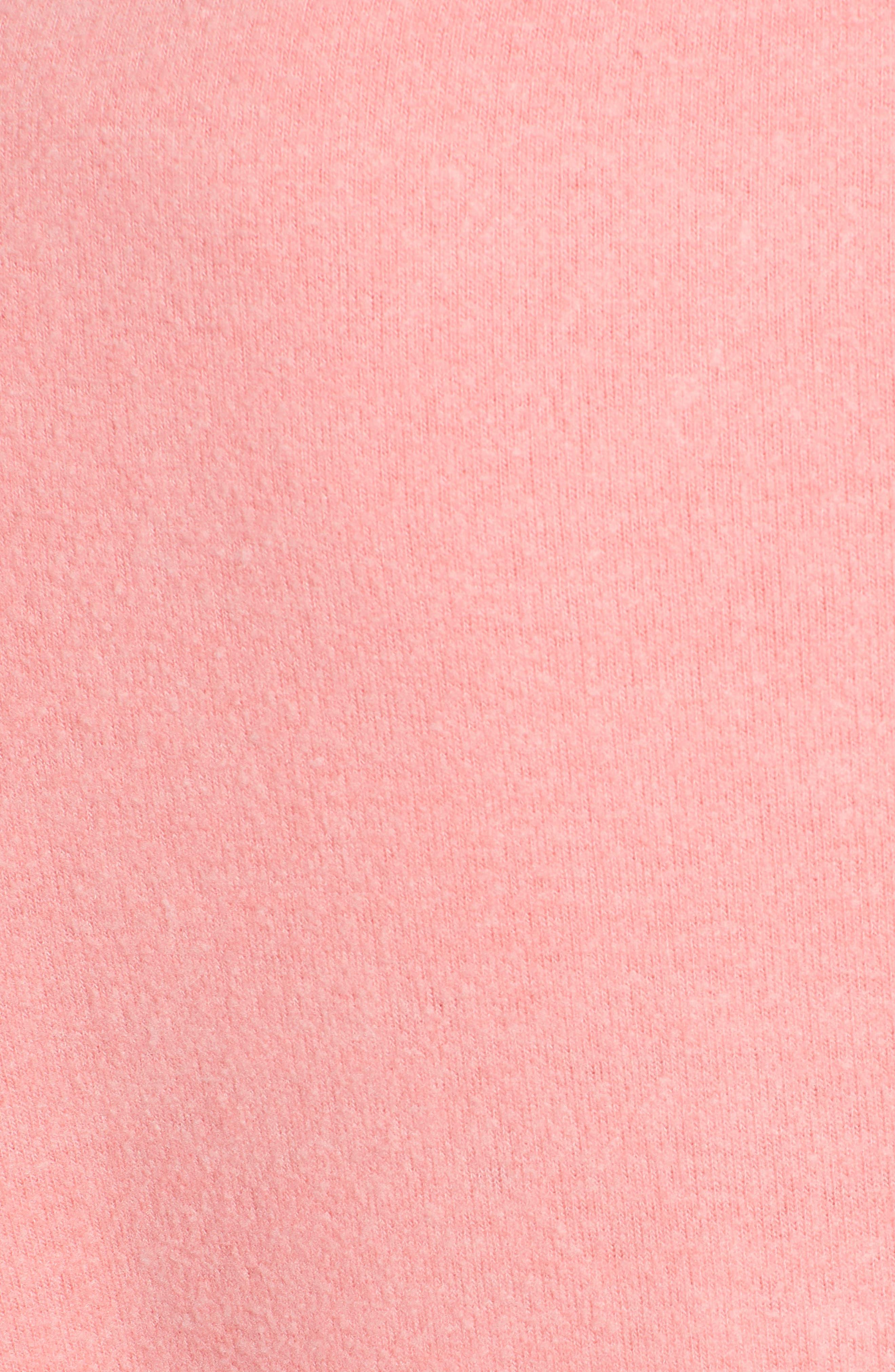 Pardon My French Sweatshirt,                             Alternate thumbnail 6, color,                             Peach Crush