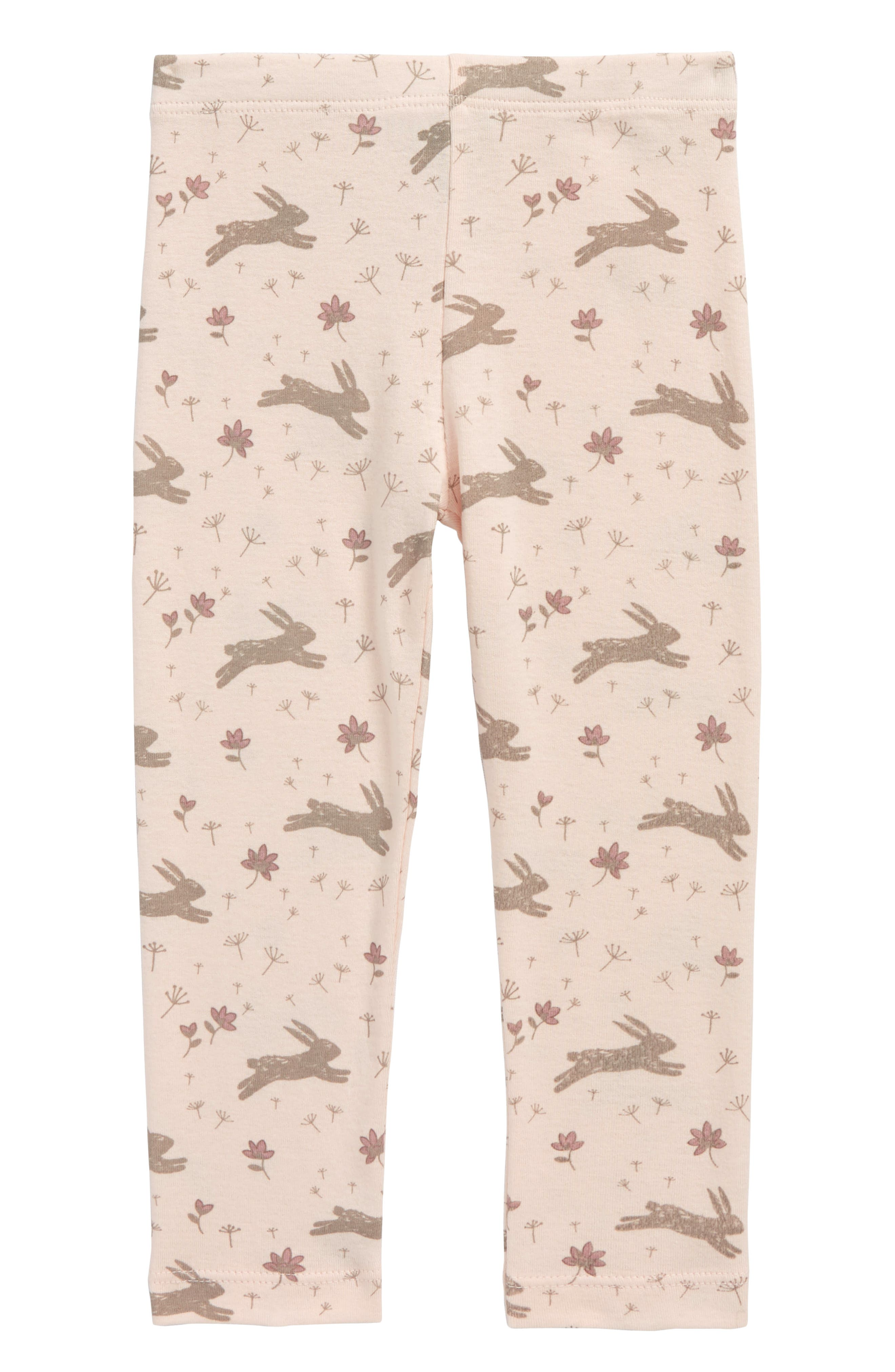 Alternate Image 1 Selected - Peek Bunny Leggings (Baby Girls)